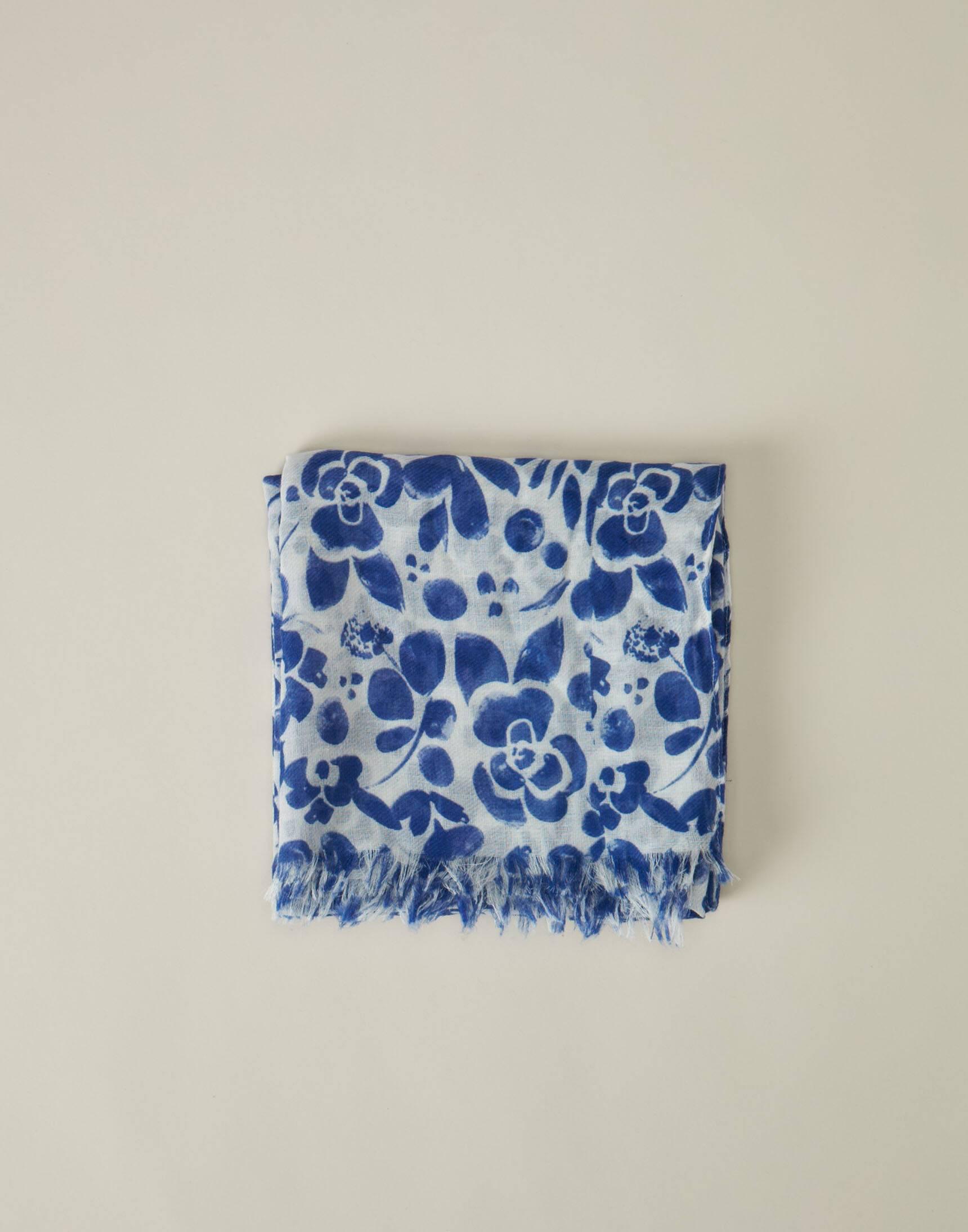 Floral pattern foulard