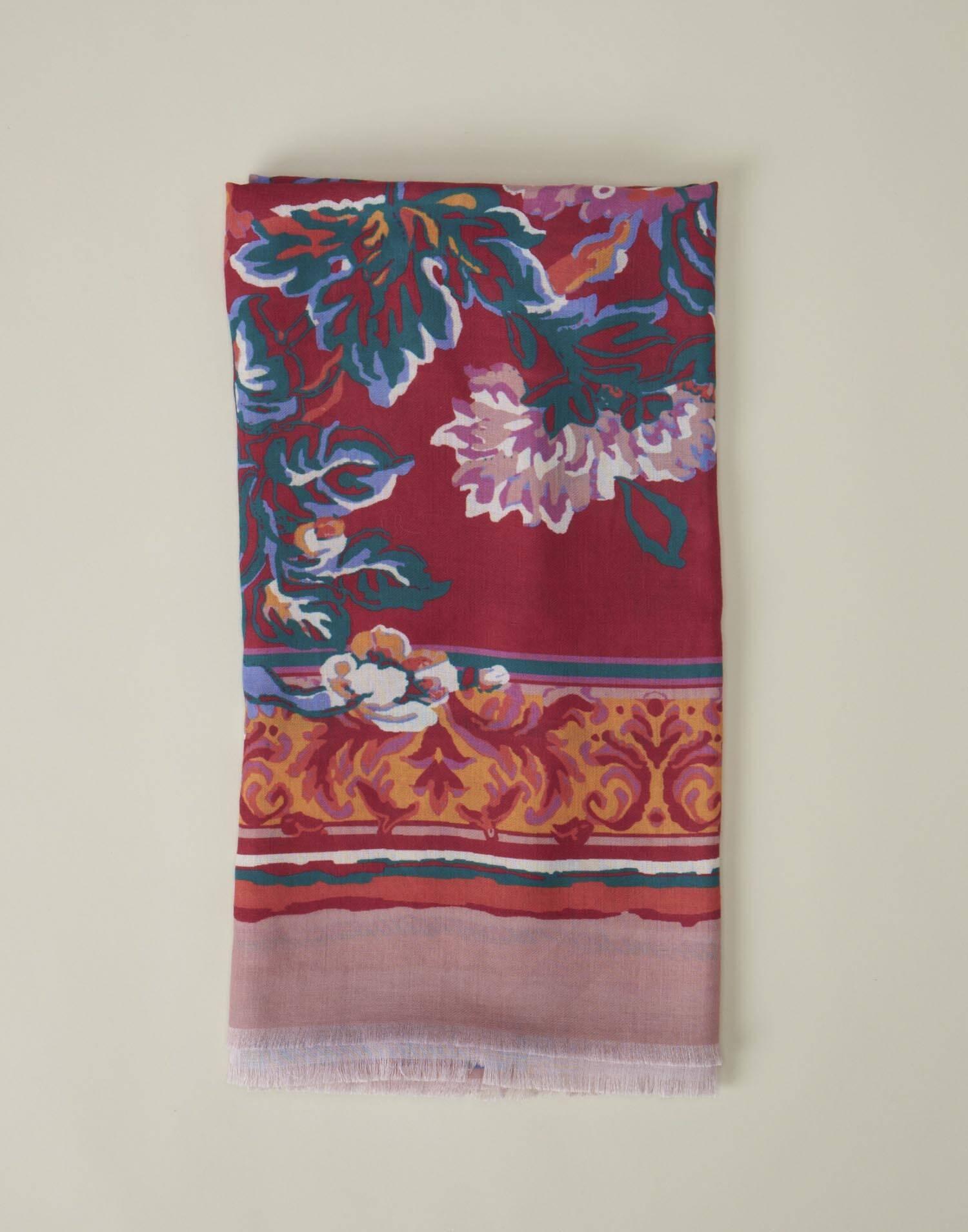 Fular print flores multicolor