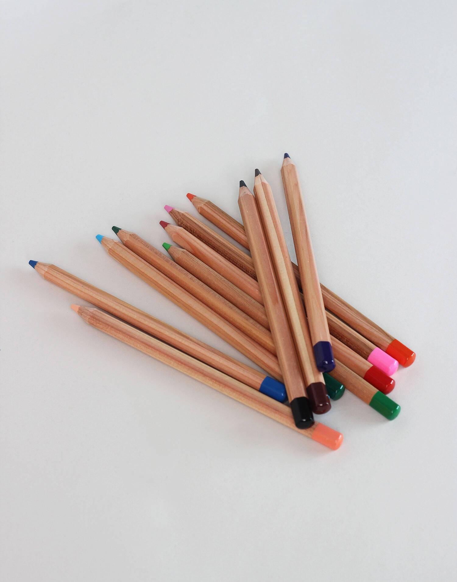 Set 12 large color pencils
