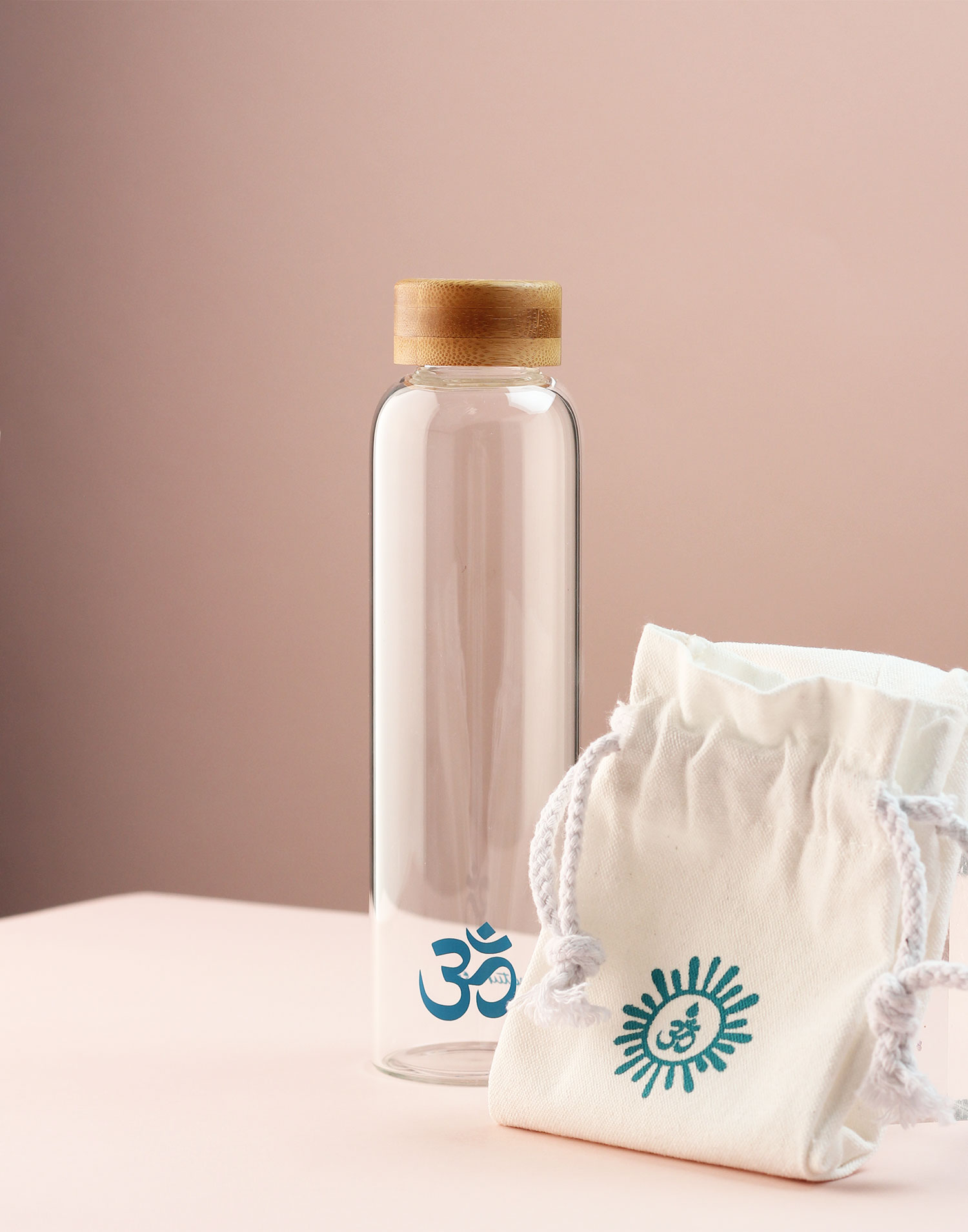 Om bottle with bag