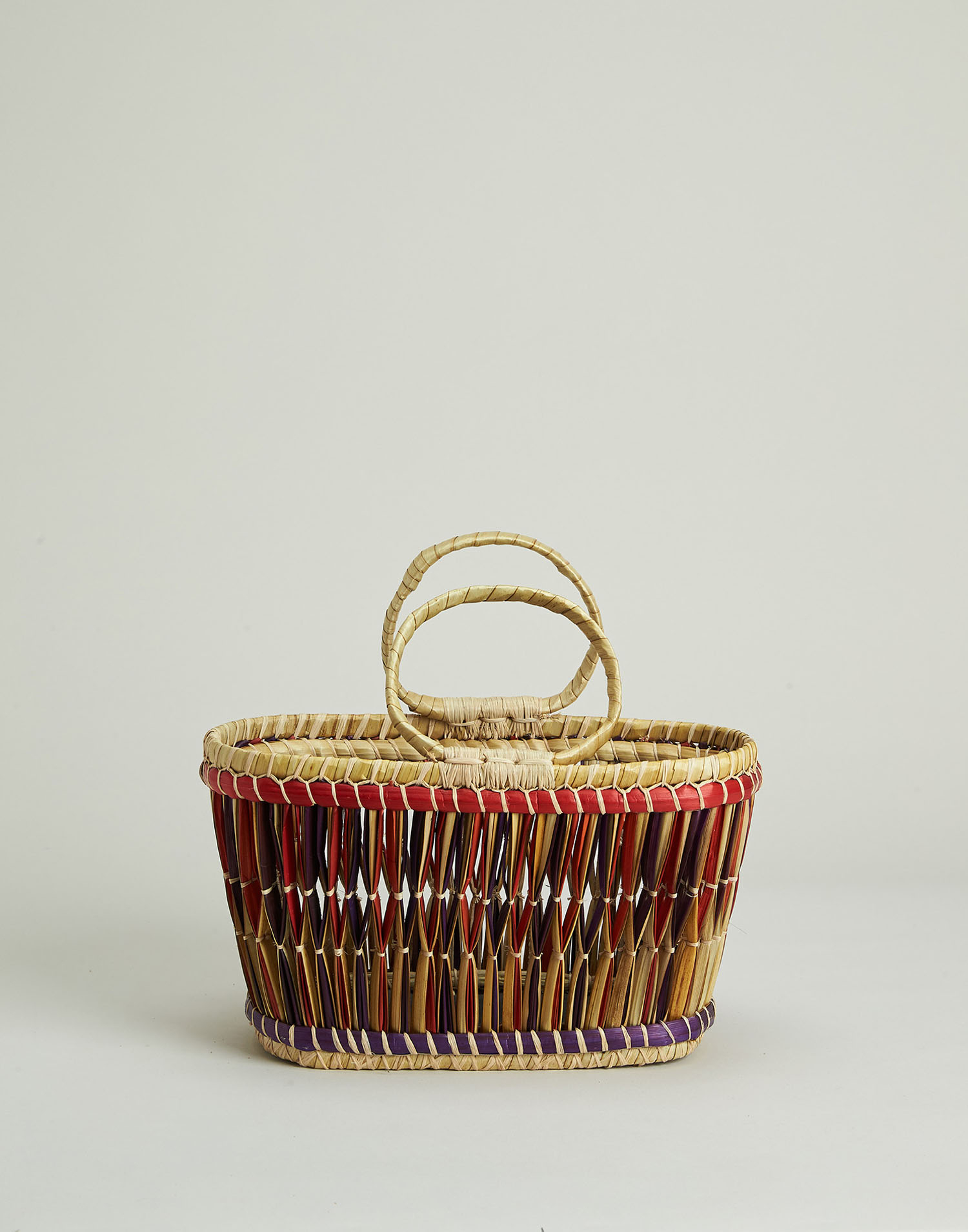 Madagascar multicolor basket bag