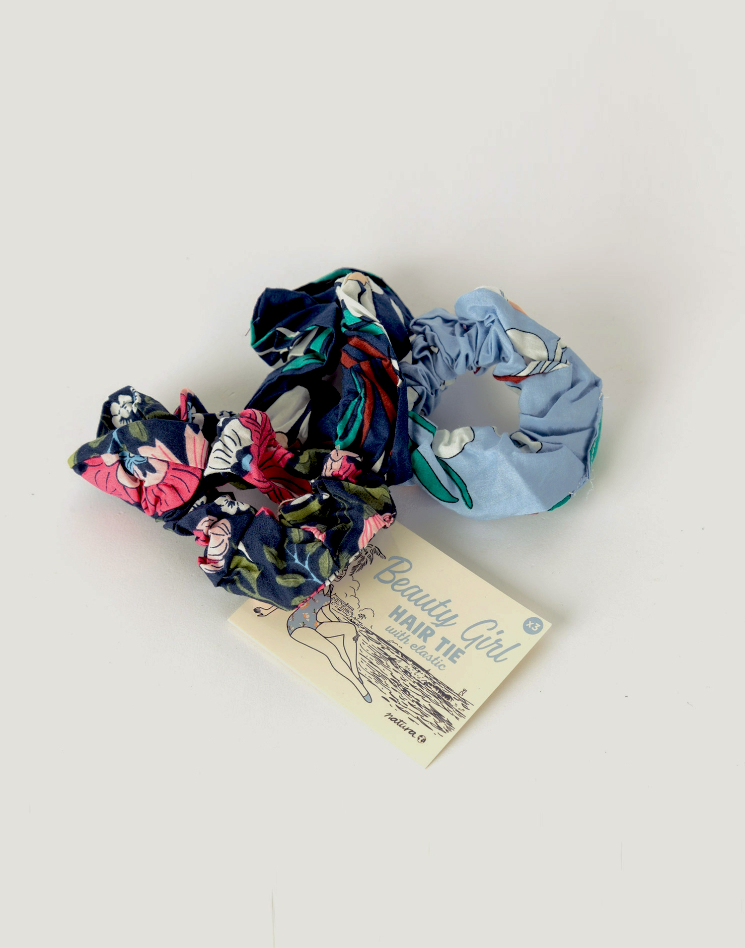 3 elastic hair straps