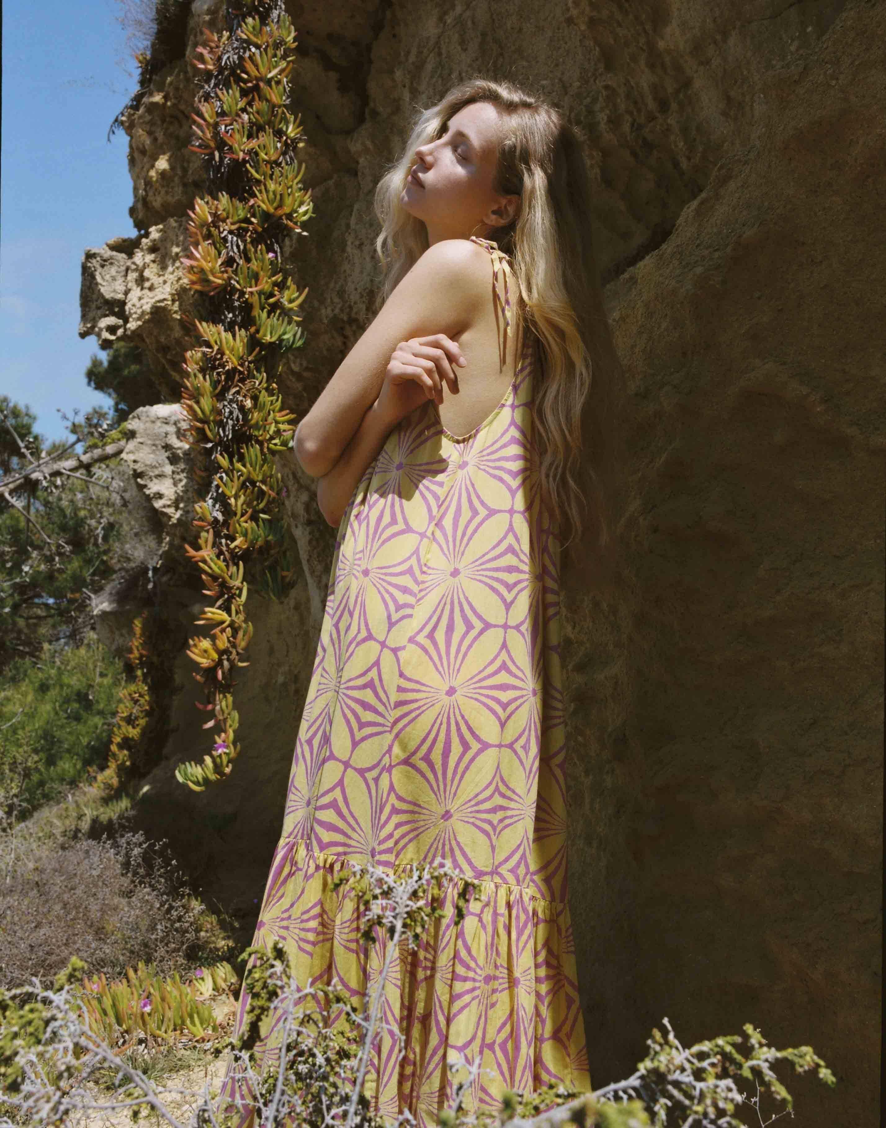 Abstract print maxi dress