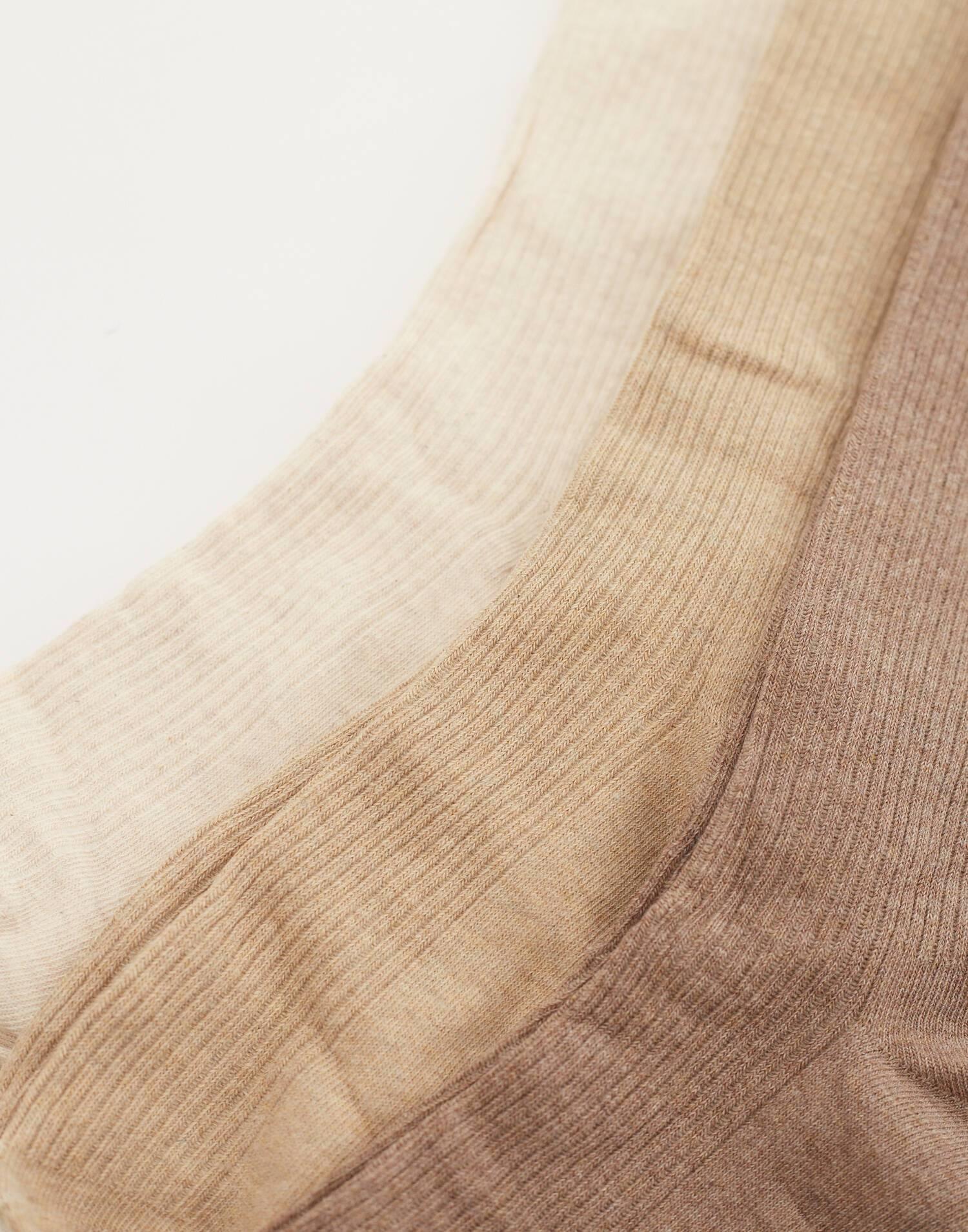 Set of 3 long ribbed socks
