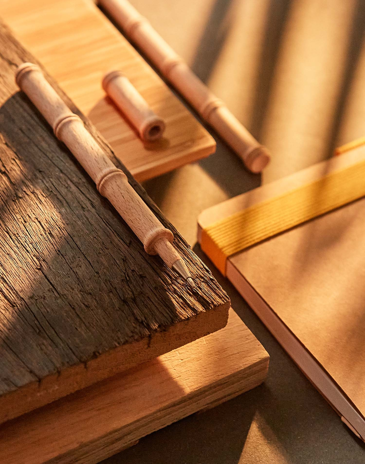bolígrafo forma bambú