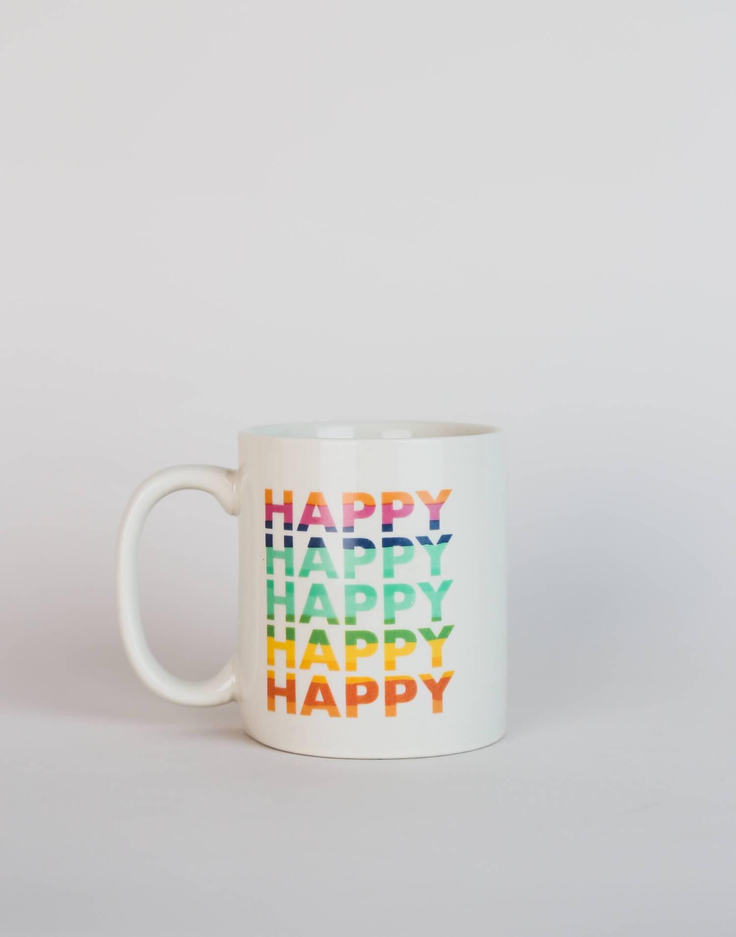 Taza  happy arcoíris