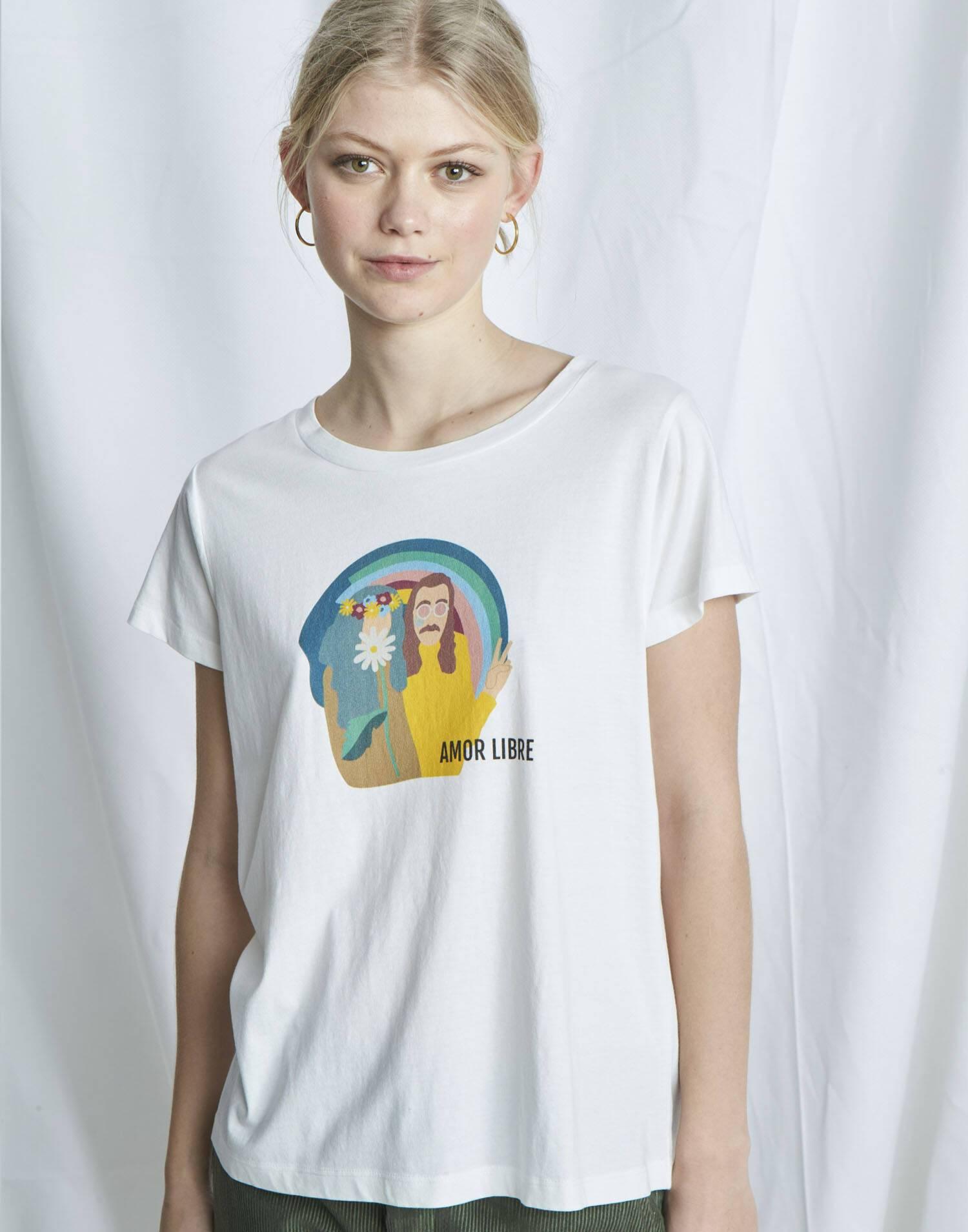 """Bio t-shirt """"amor libre"""""""