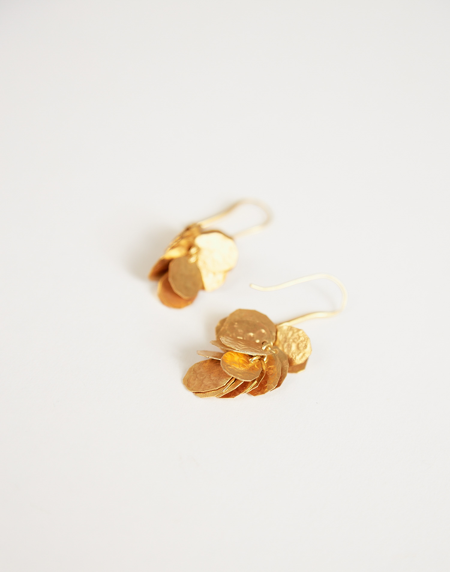 Gold plated medals earring