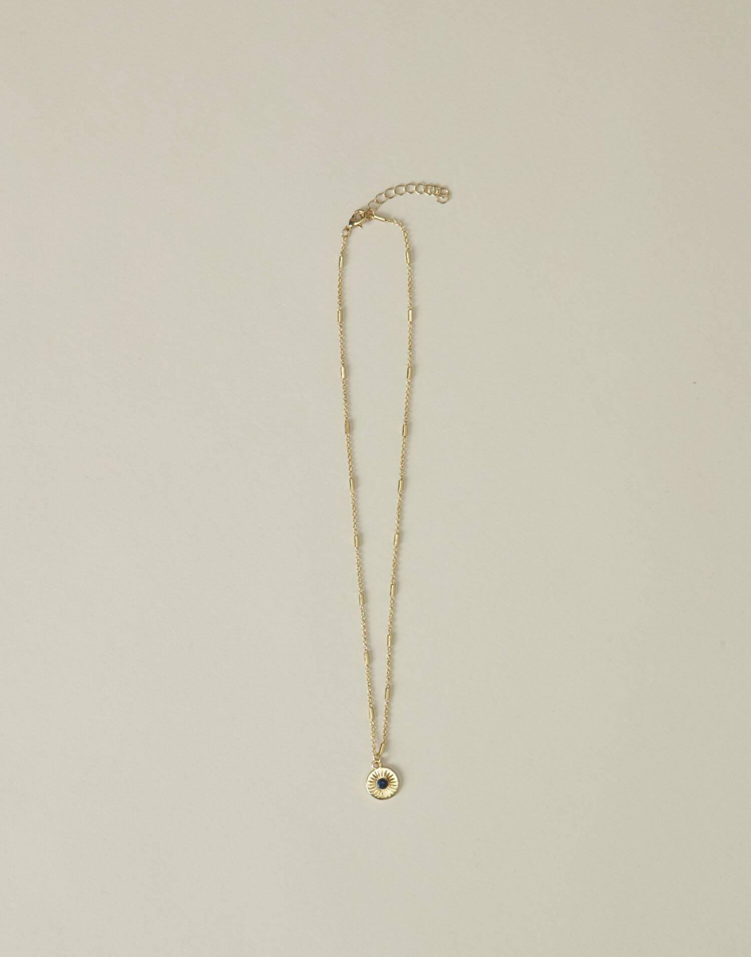 Collar cadena medalla redonda