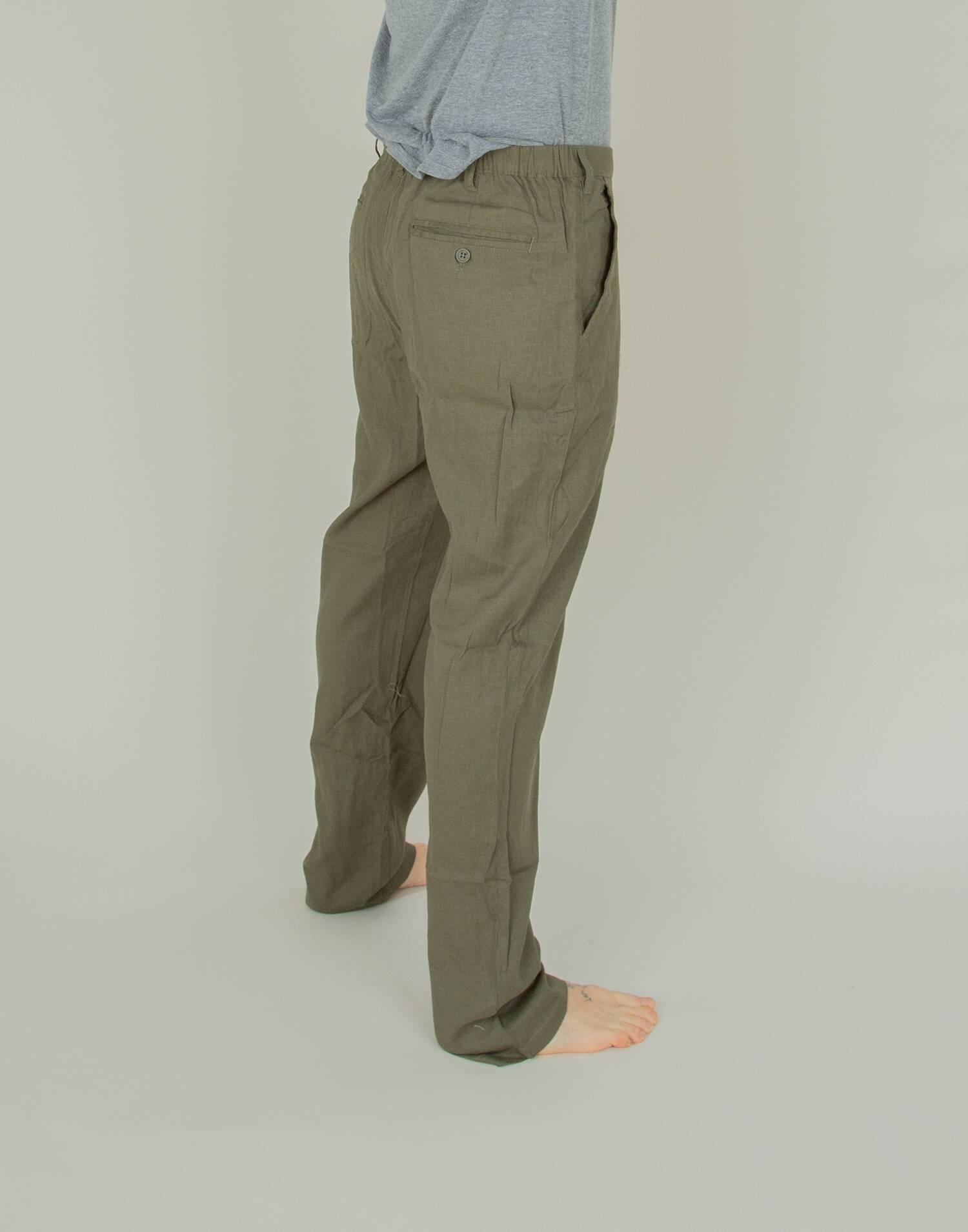 Pantalón lino hombre