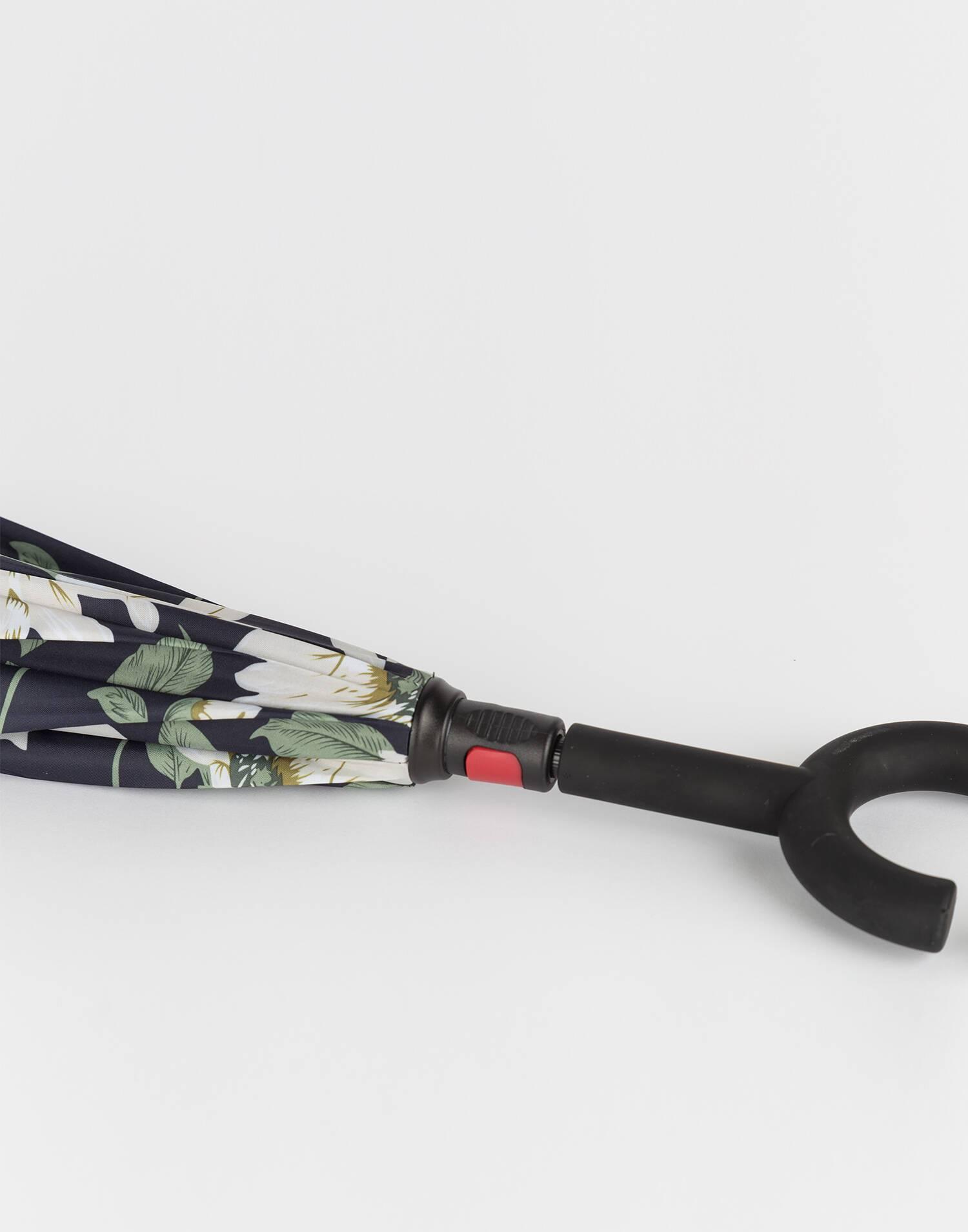 Paraguas invertido  flores