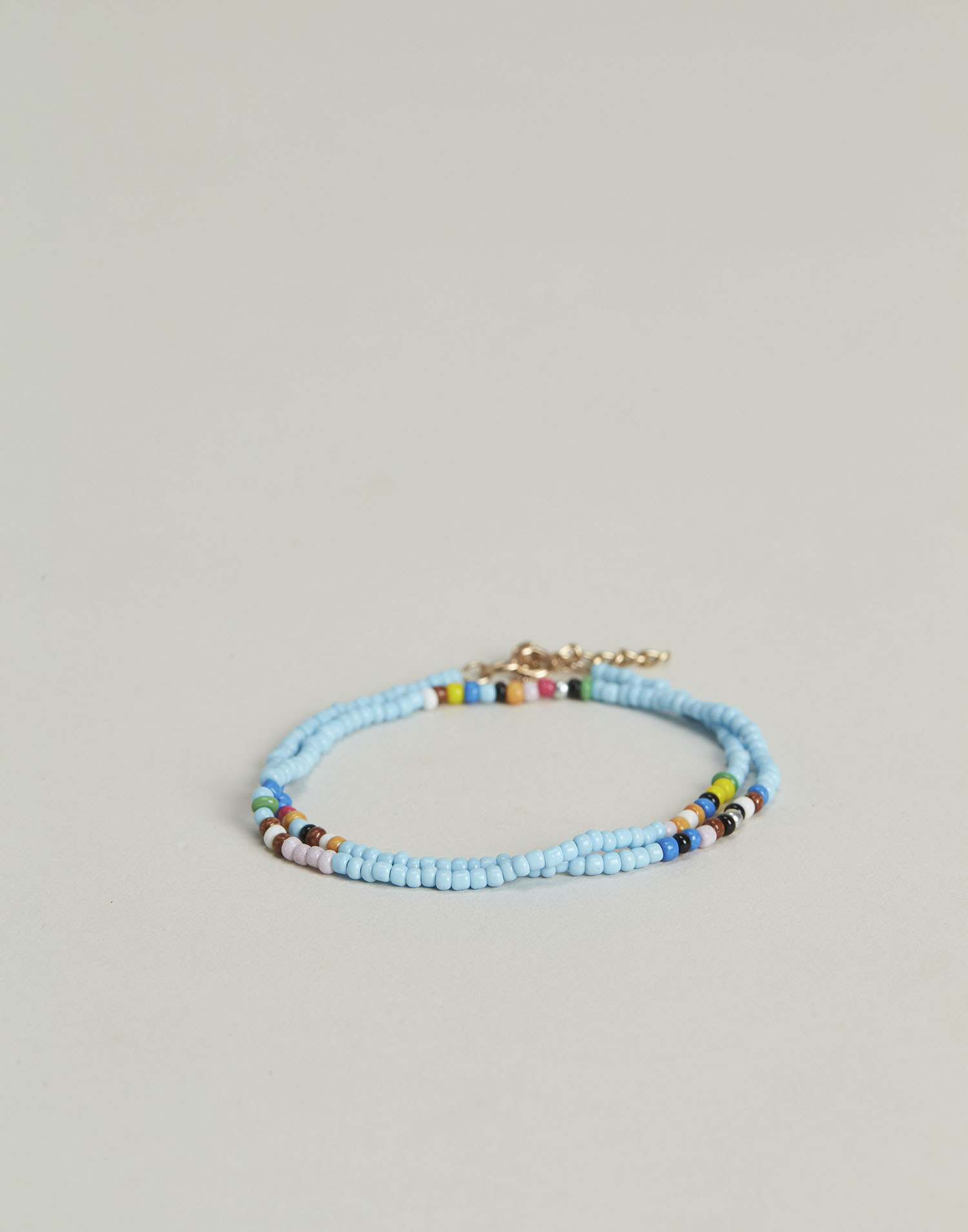 Double beads anklet bracelet