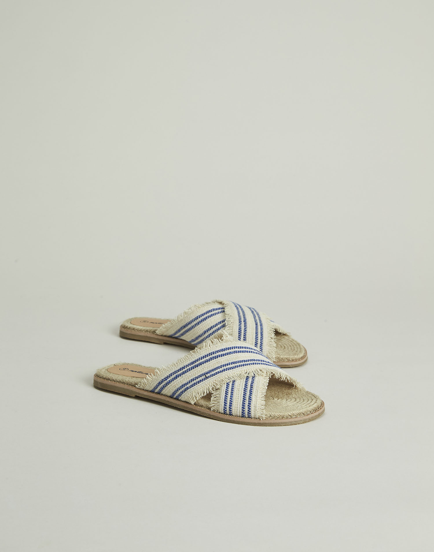 Striped jacquard sandal