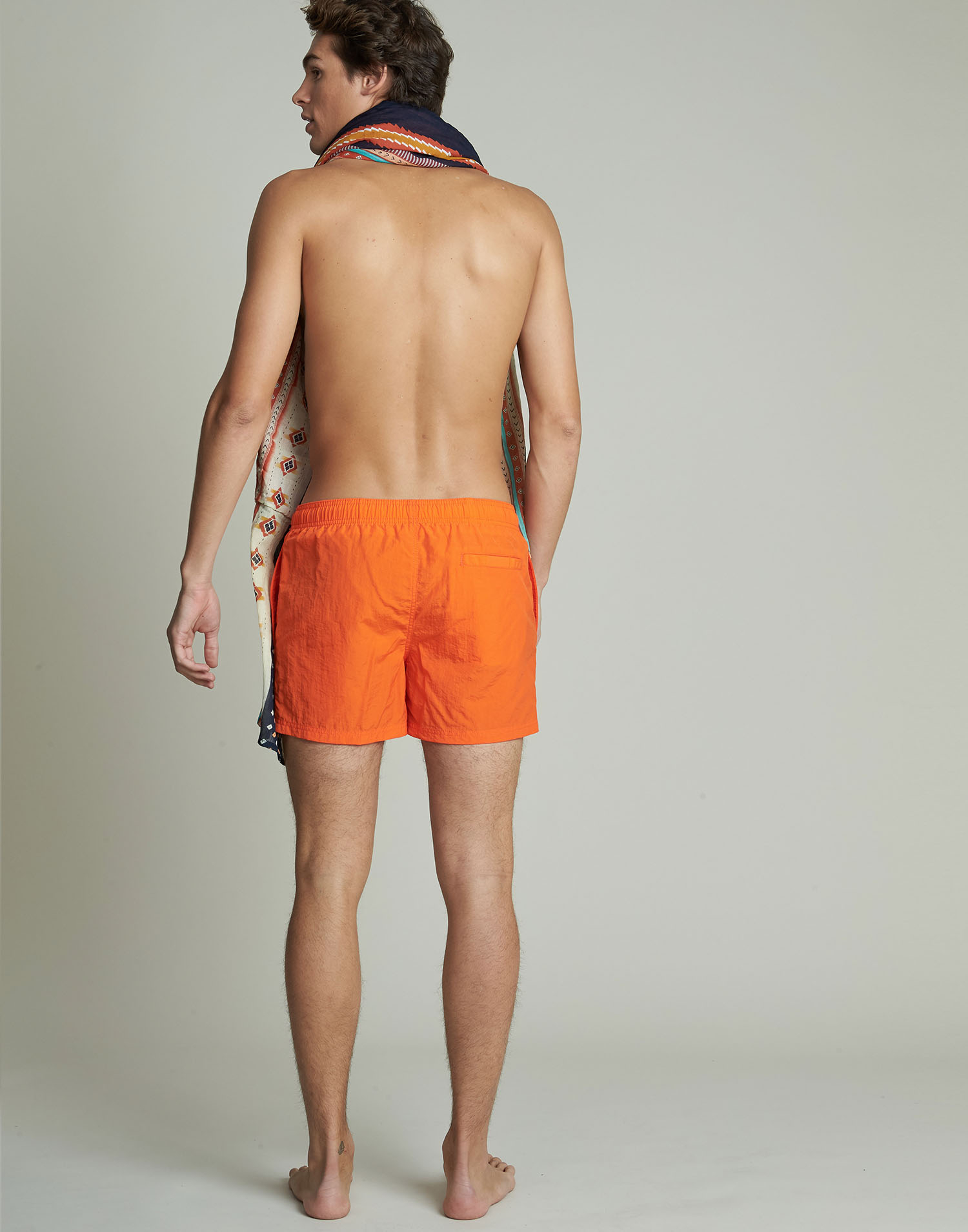 Men plain short swimsuit