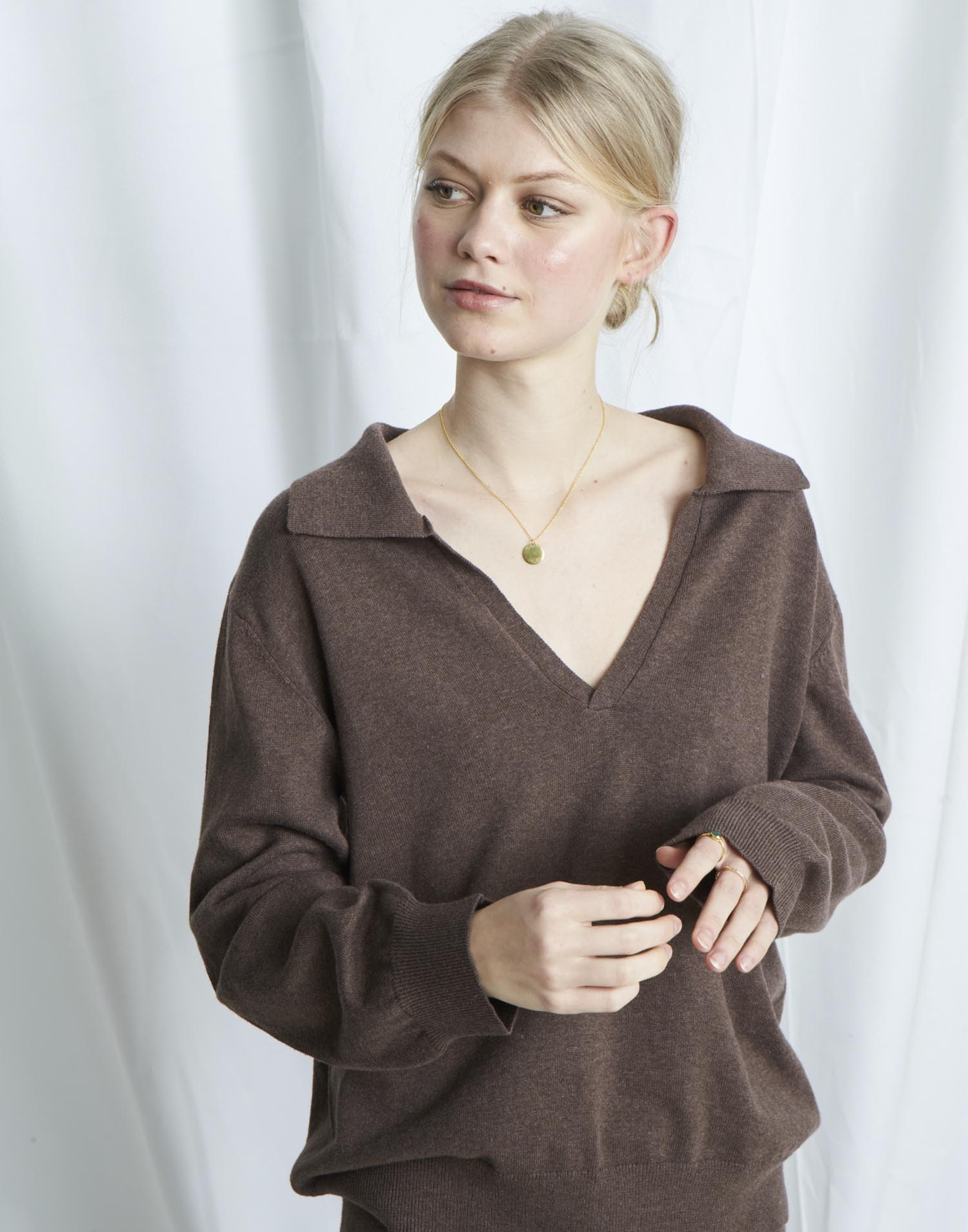 Organic polo neck  sweater