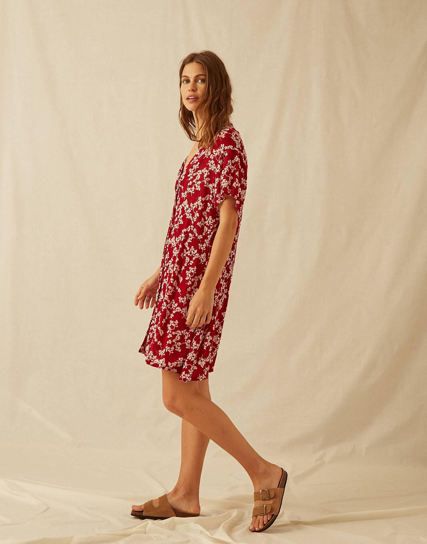 Vestido flor mini