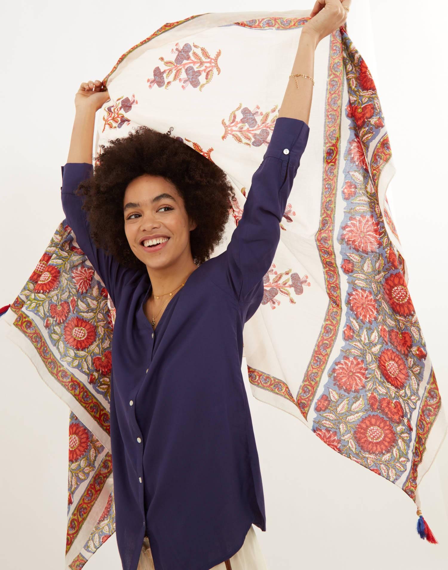 foulard fleur grand