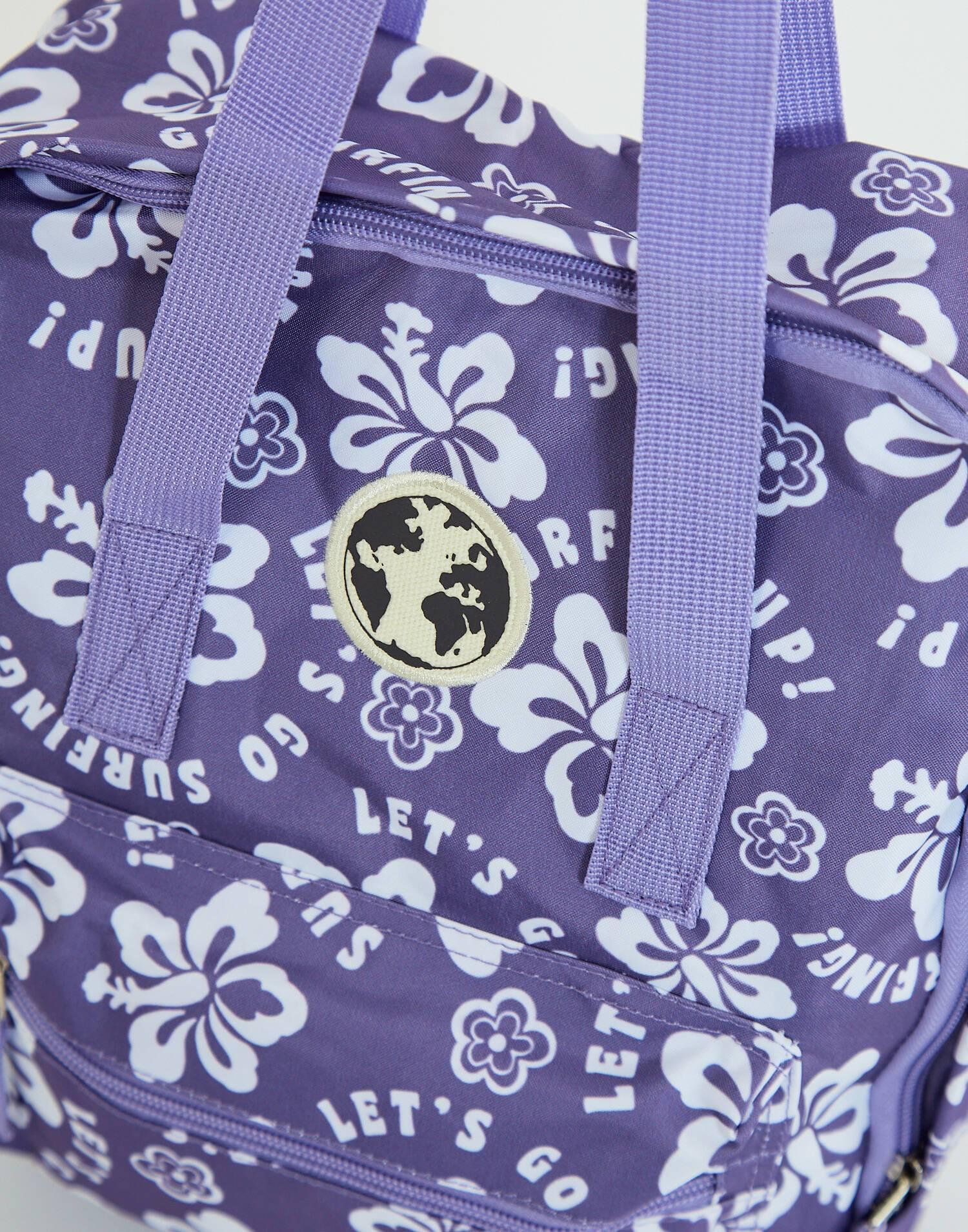 Rucksack mit hawaii aufdruck