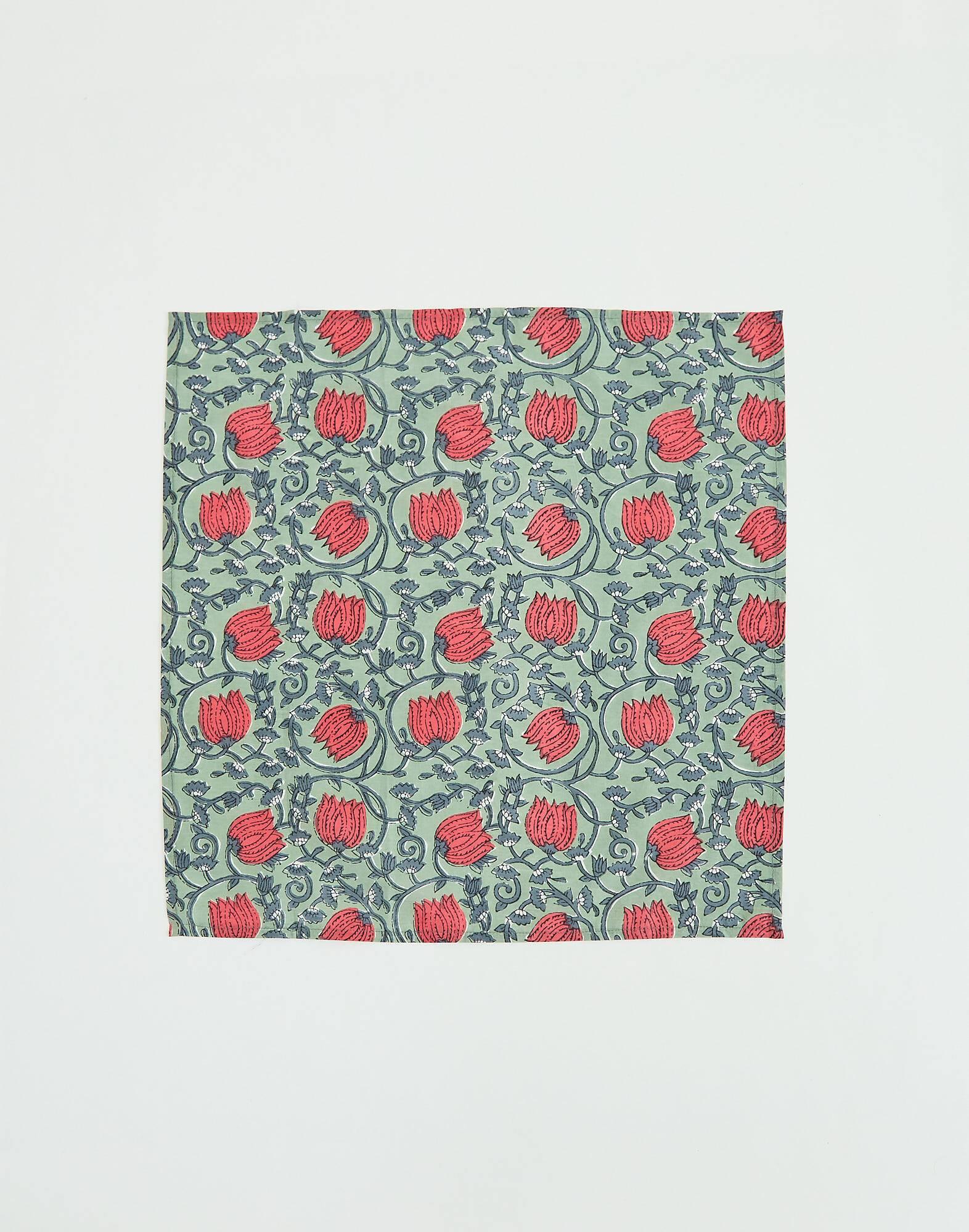 Lot 2 serviettes de table indi 45 x 45