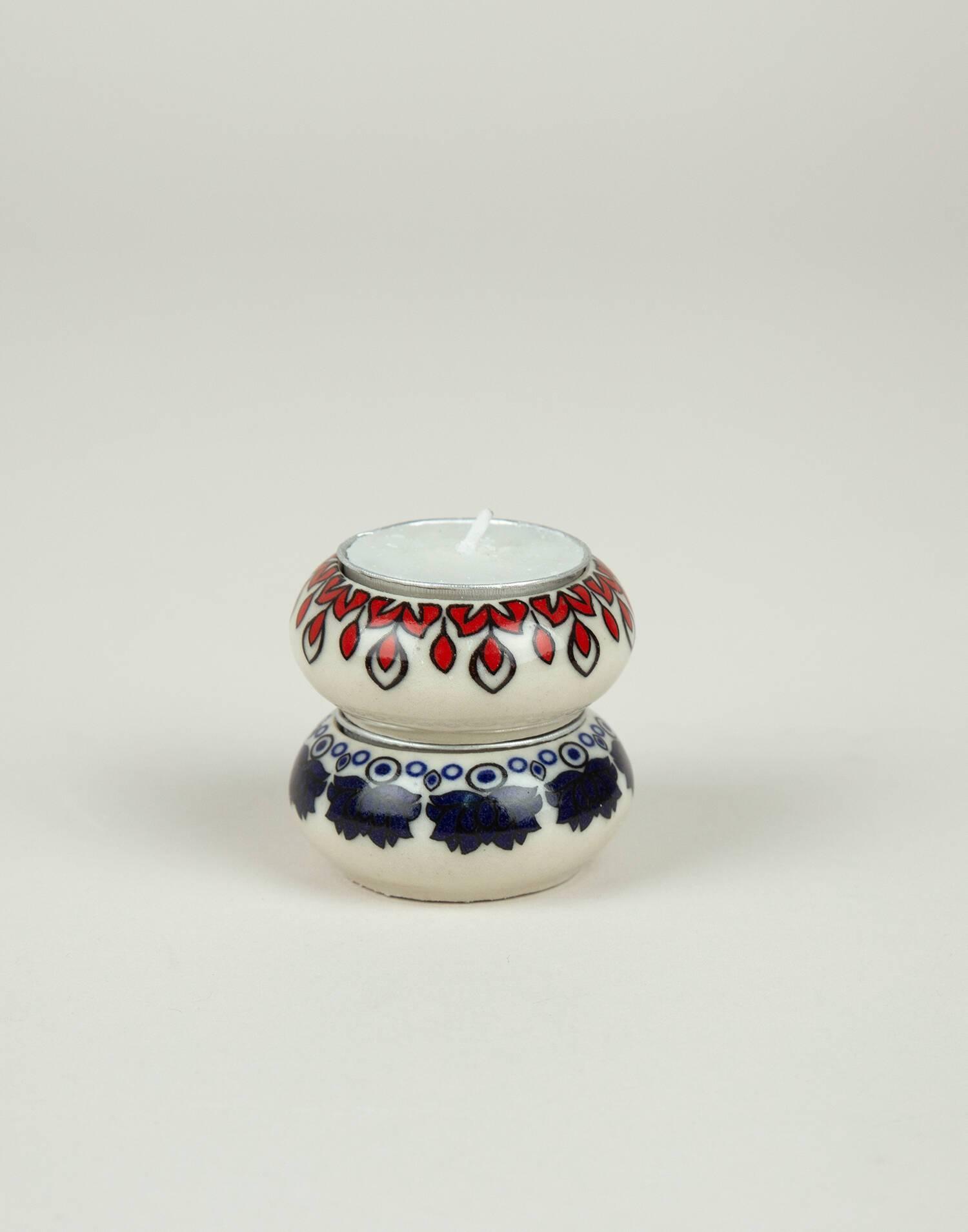 Set 2 ceramic tealight