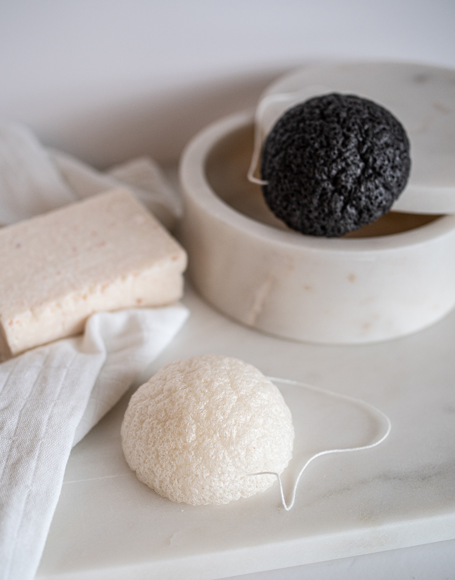 Konjac sponge set of 2