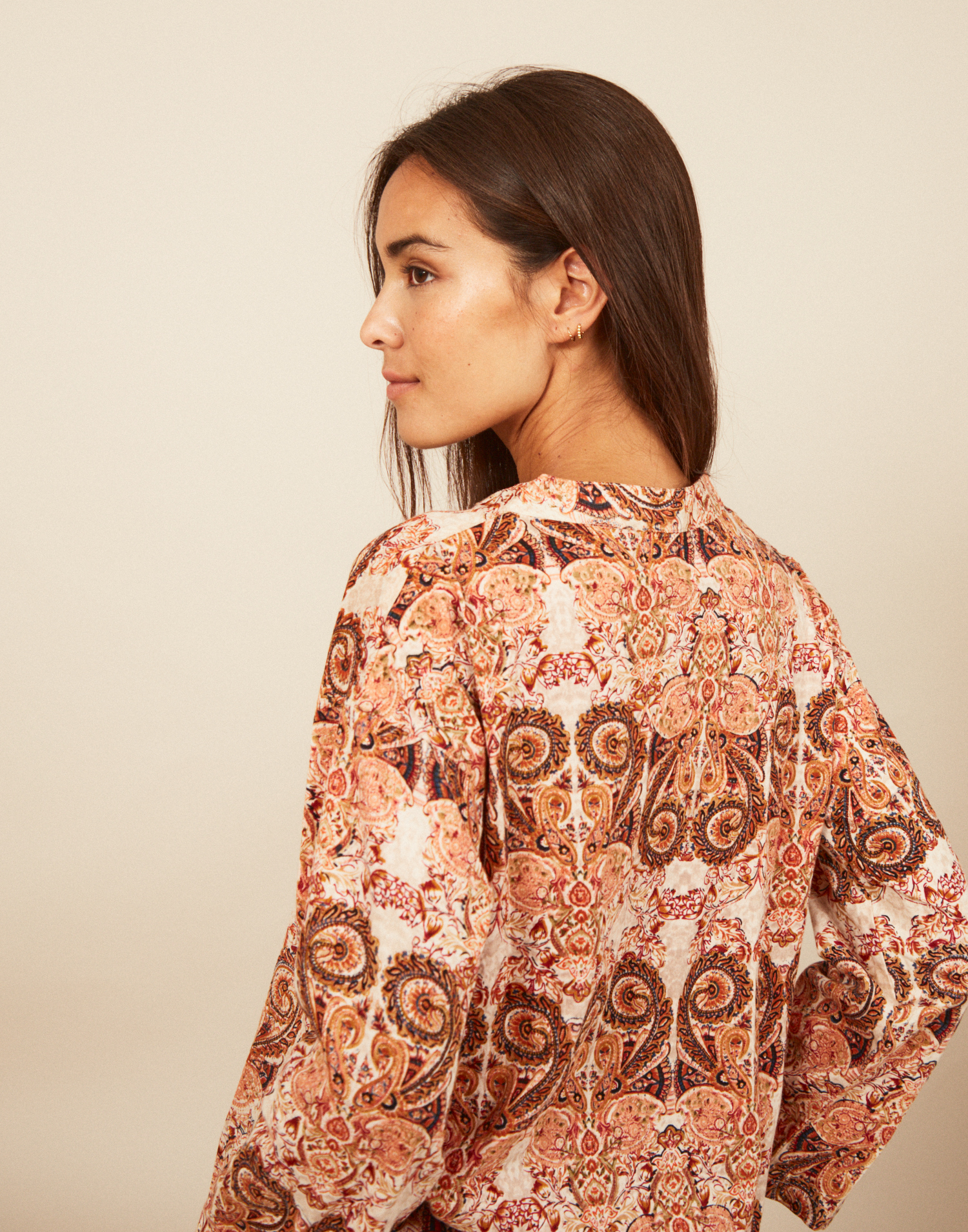 Camiseta print barroco