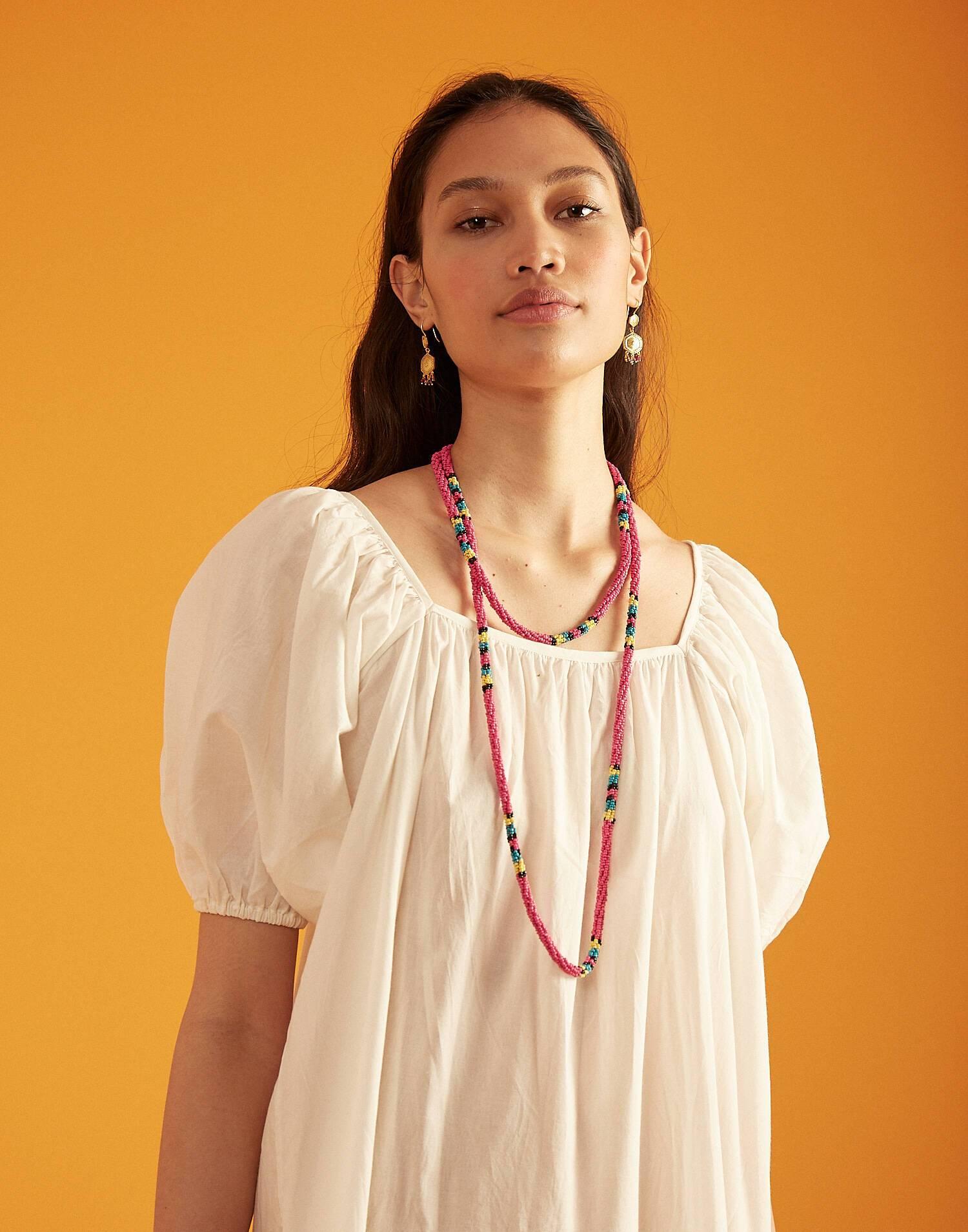 Sautoir perles cordon