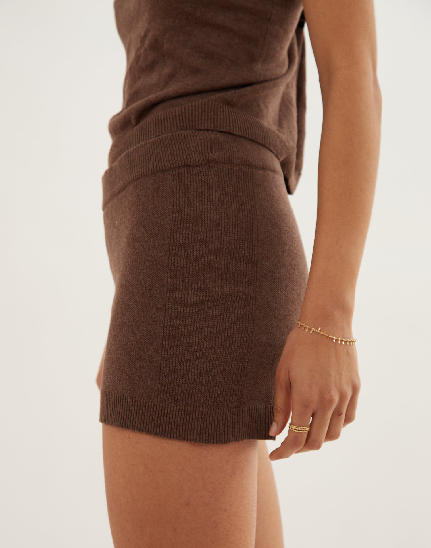 Organic cotton knitted short