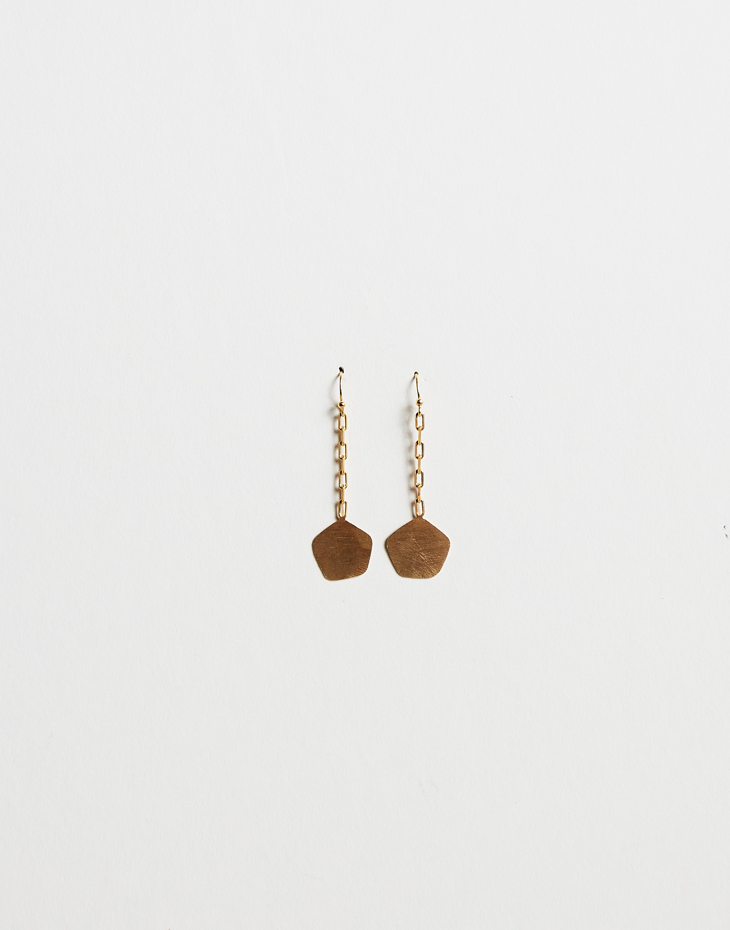Gold plated chain earring