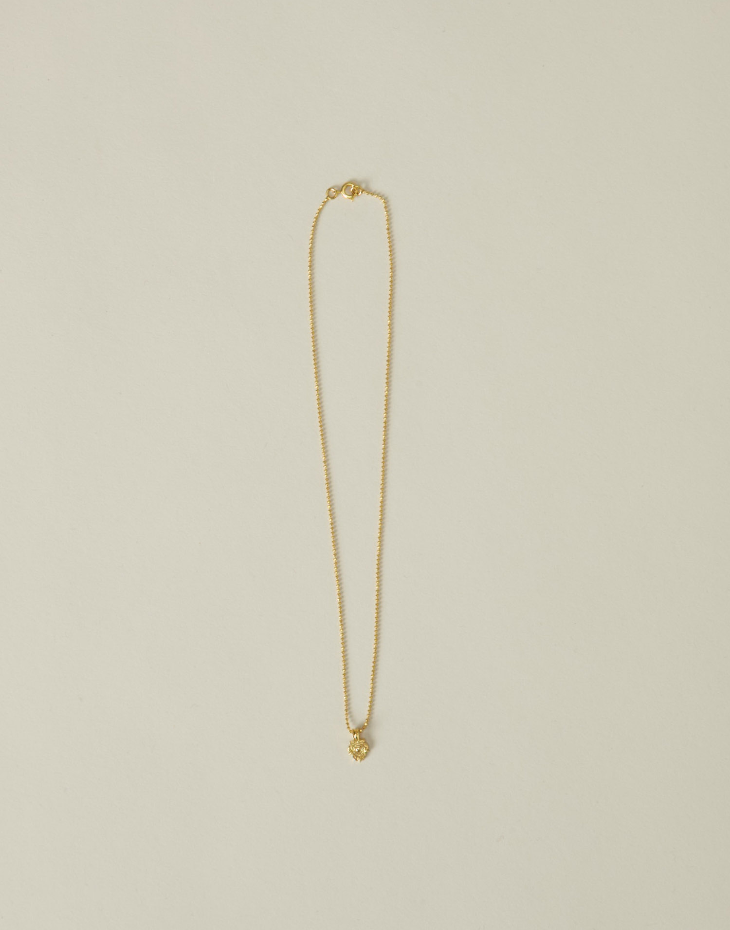 Gold plated india small medal necklace