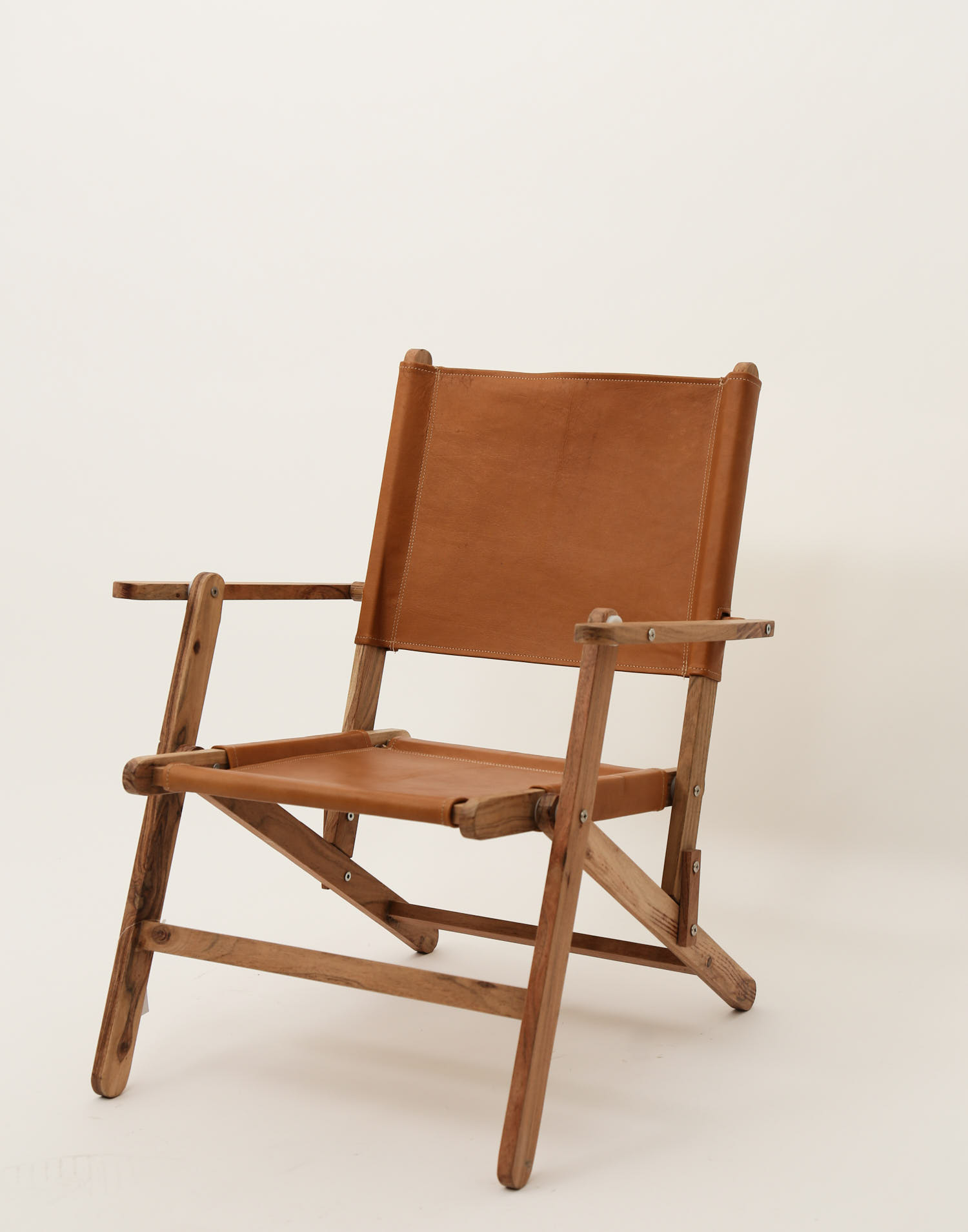 Wood and leather chair