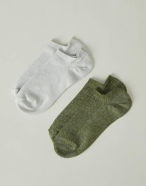 Set 2 calcetines tobillo lurex
