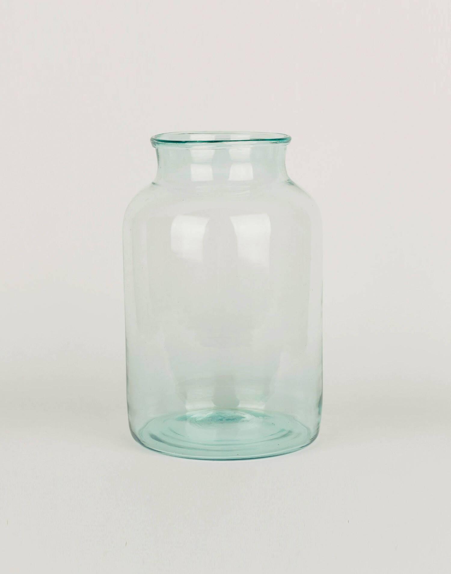 Jarrón cristal grueso 21 x 31 cm