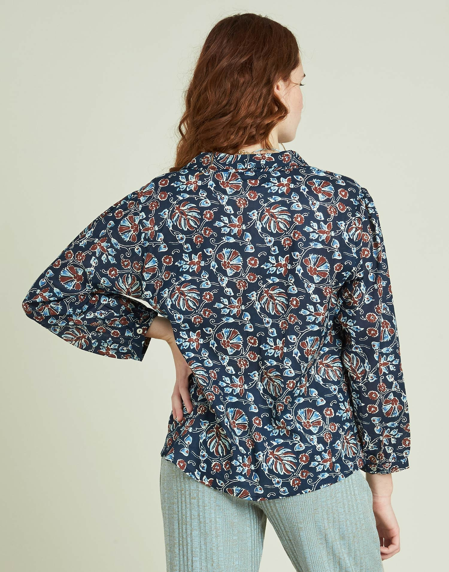 Indian flowers shirt