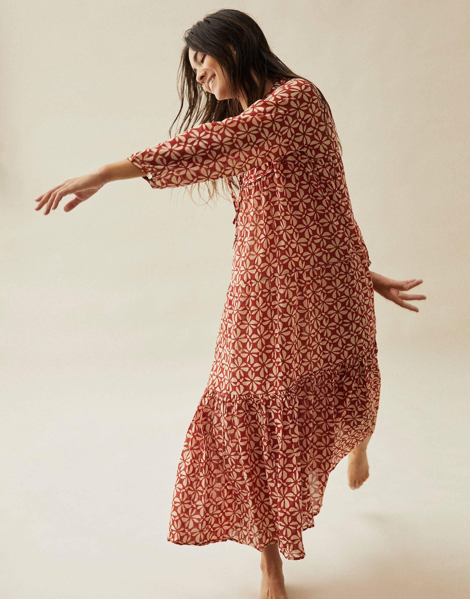 Vestido largo hippy