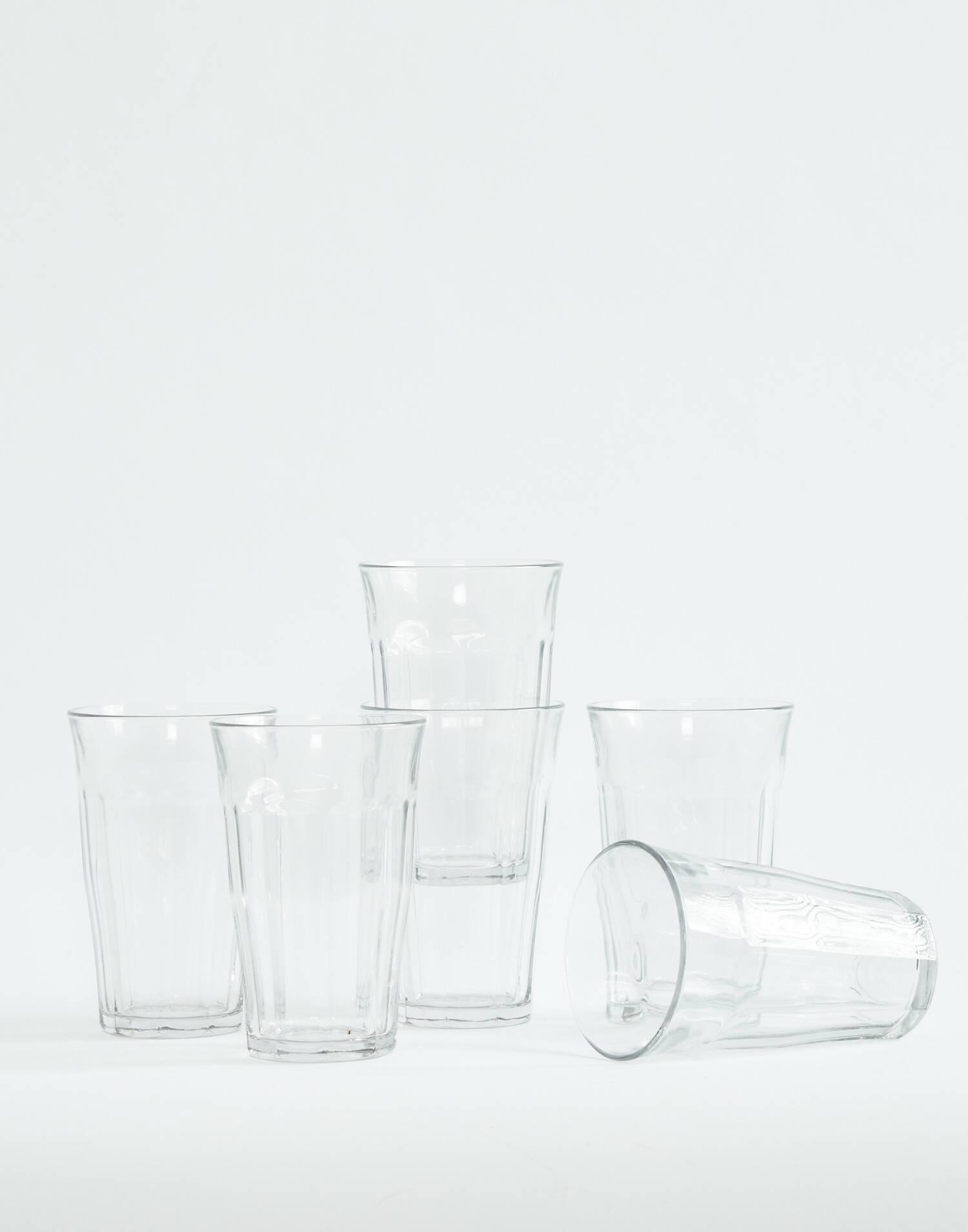 6 crystal glasses set 50cl