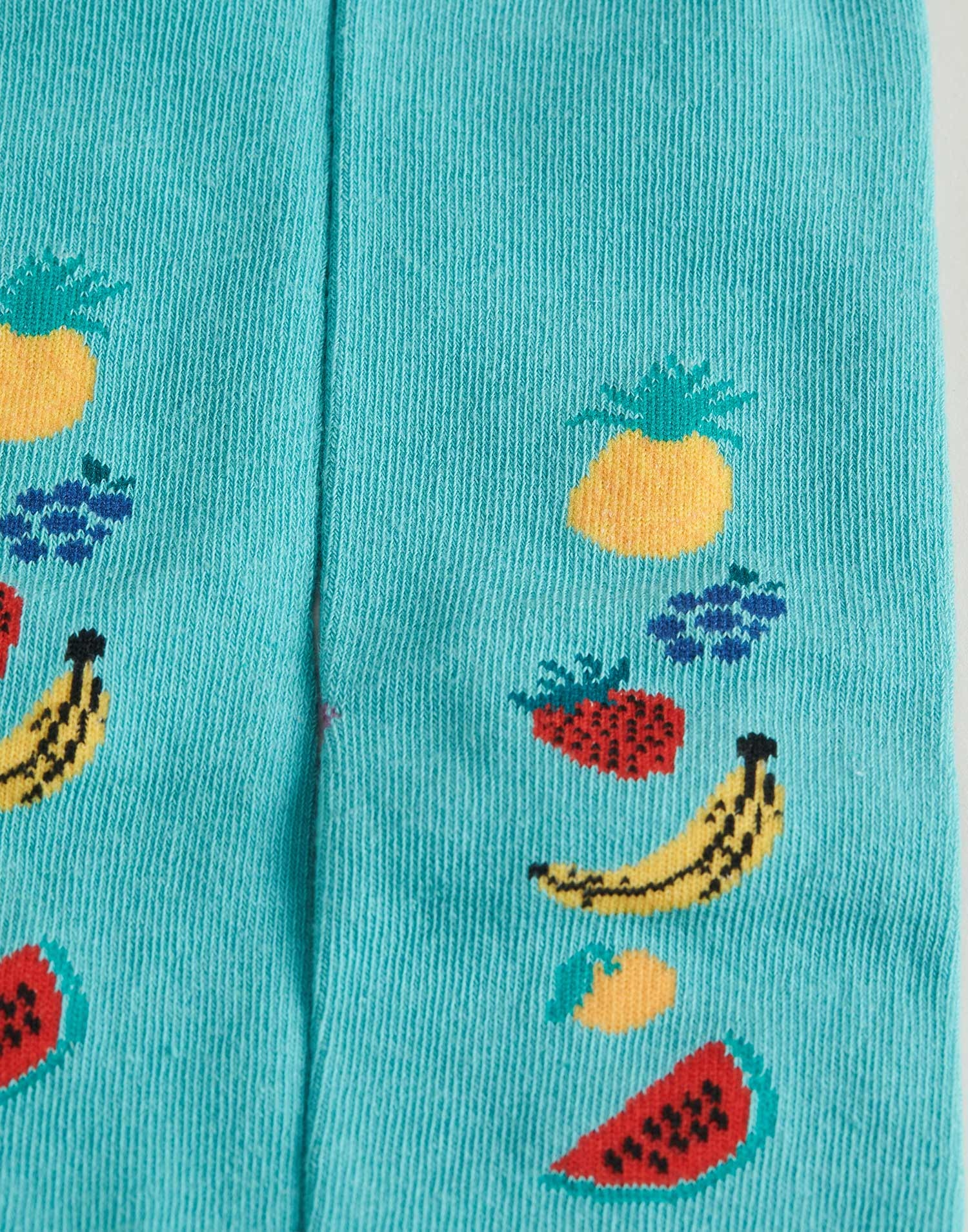 Tropical fruits woman socks