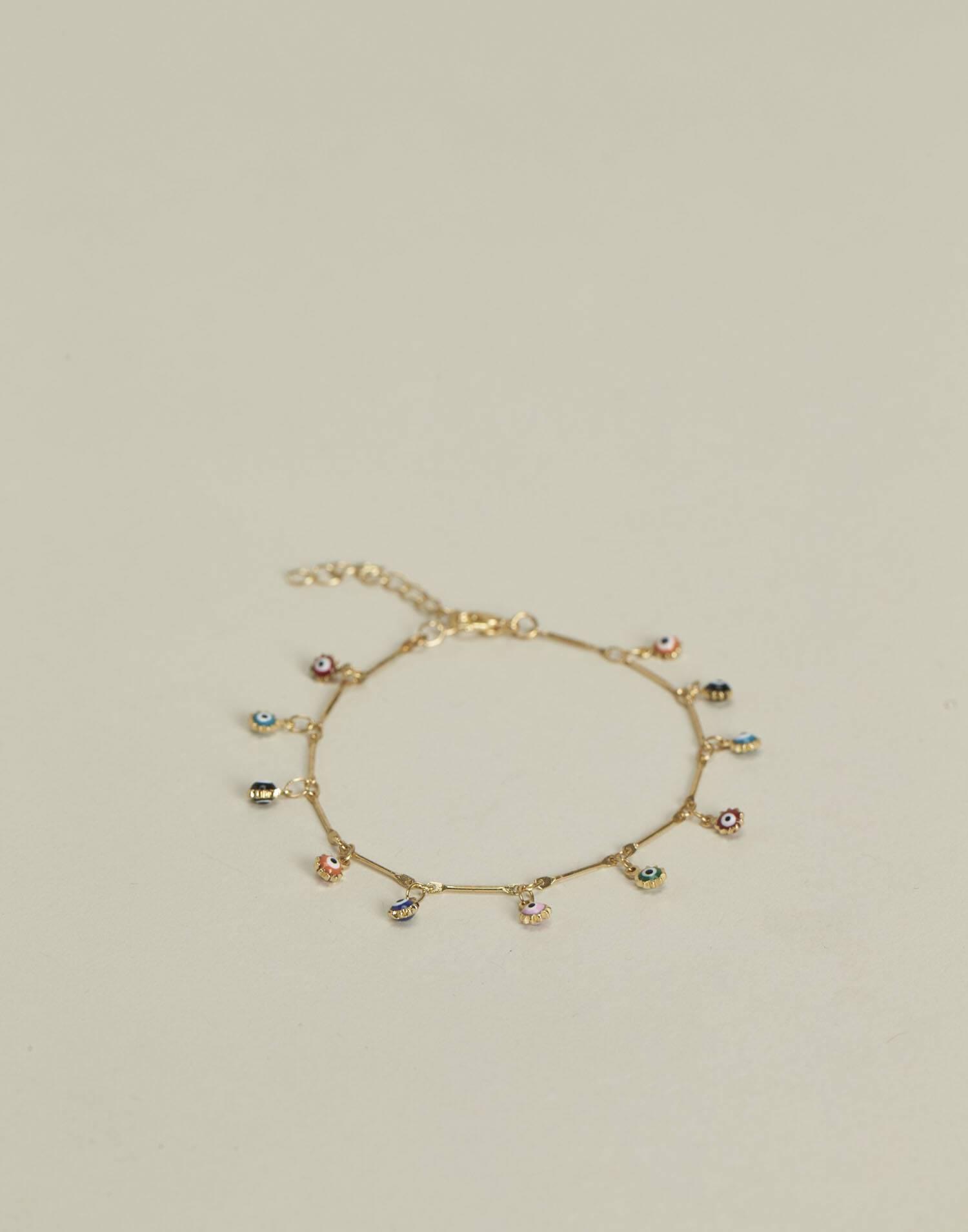 Evil's eye multipendant bracelet