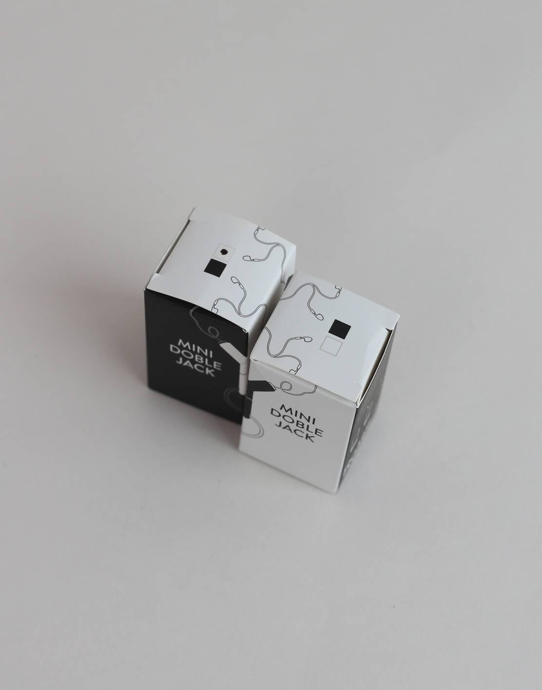 Mini jack-doppelstecker für kopfhörer