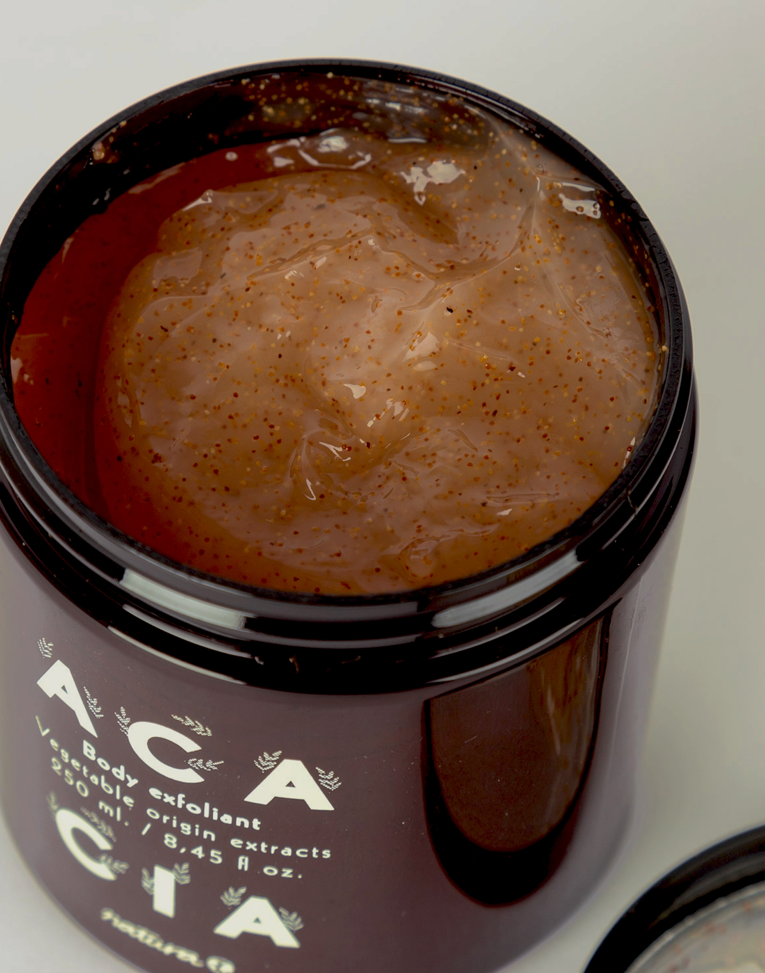 Natural body scrub gel