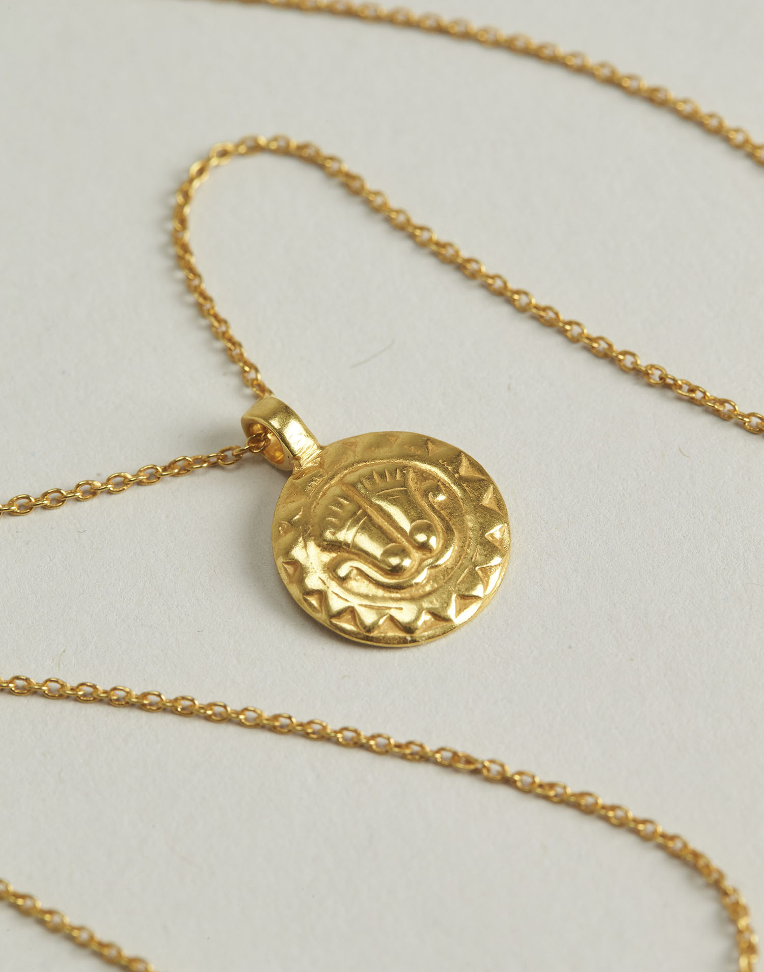 Gilded indian medal necklace