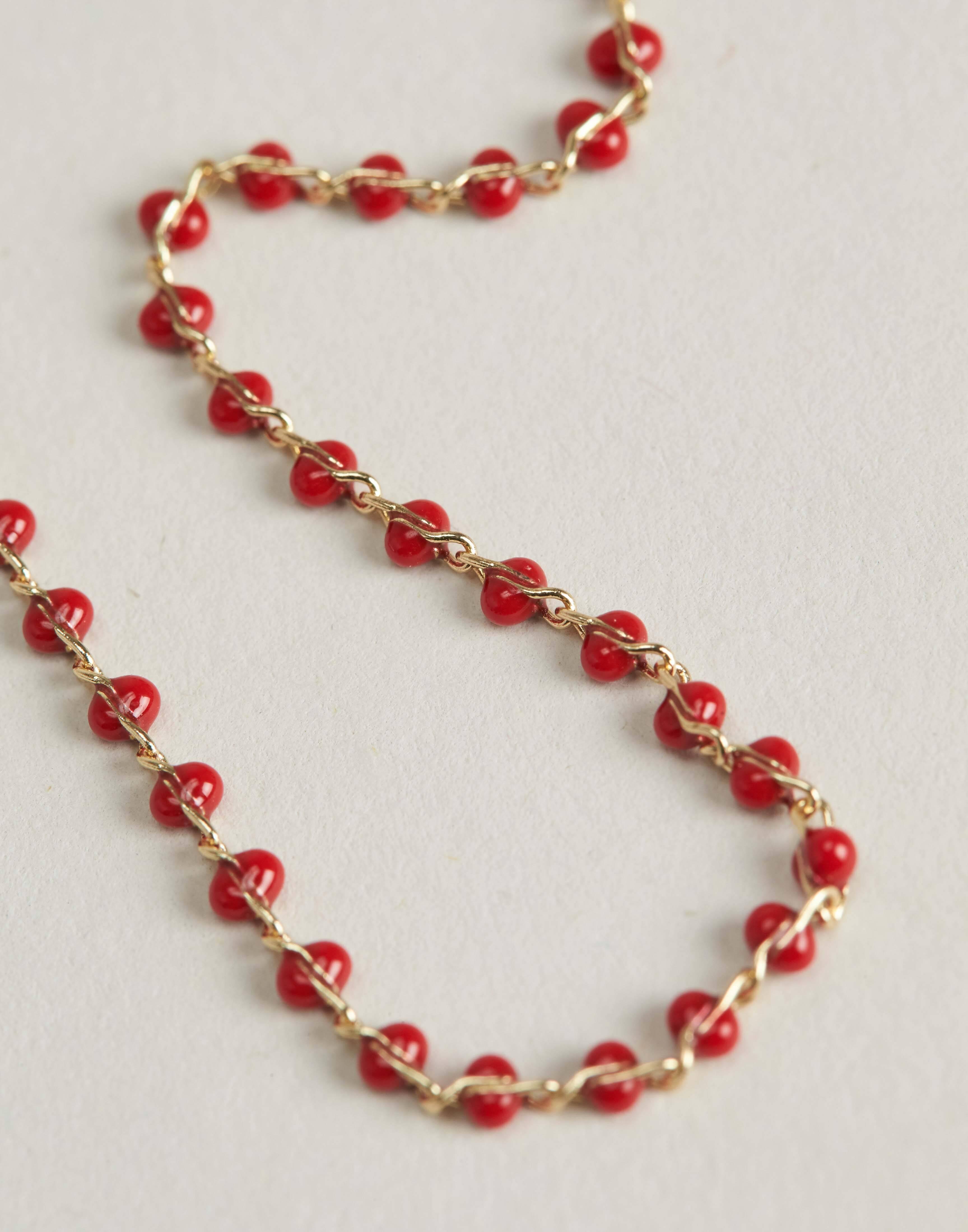 Color beads chain bracelet