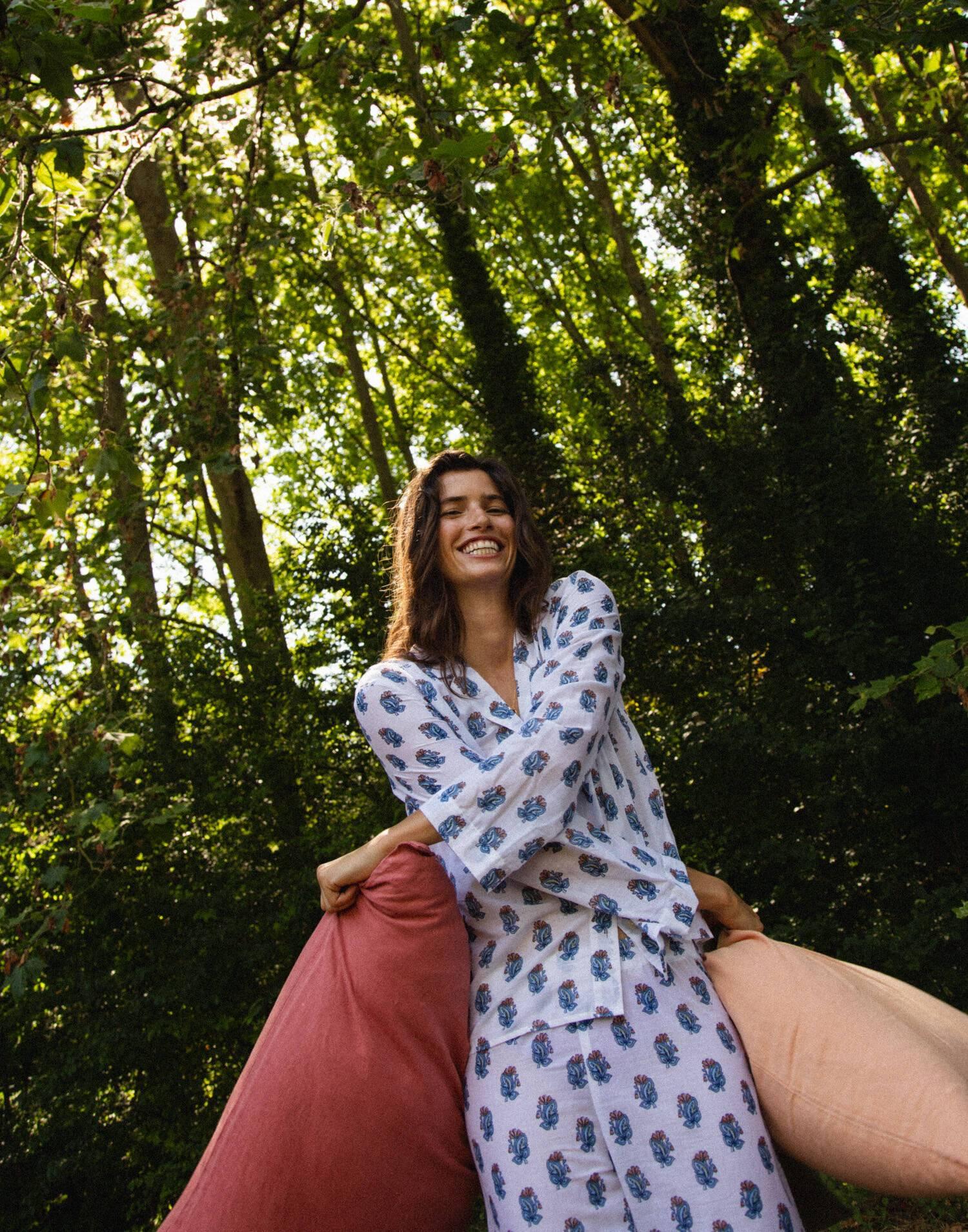set pijama estampado algodón orgánico