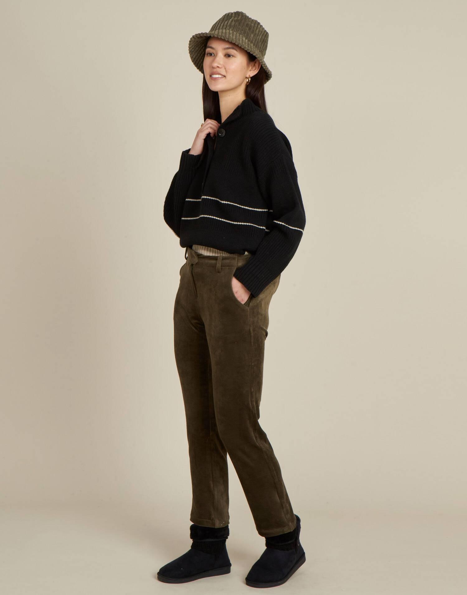 Pantalón canalé básico
