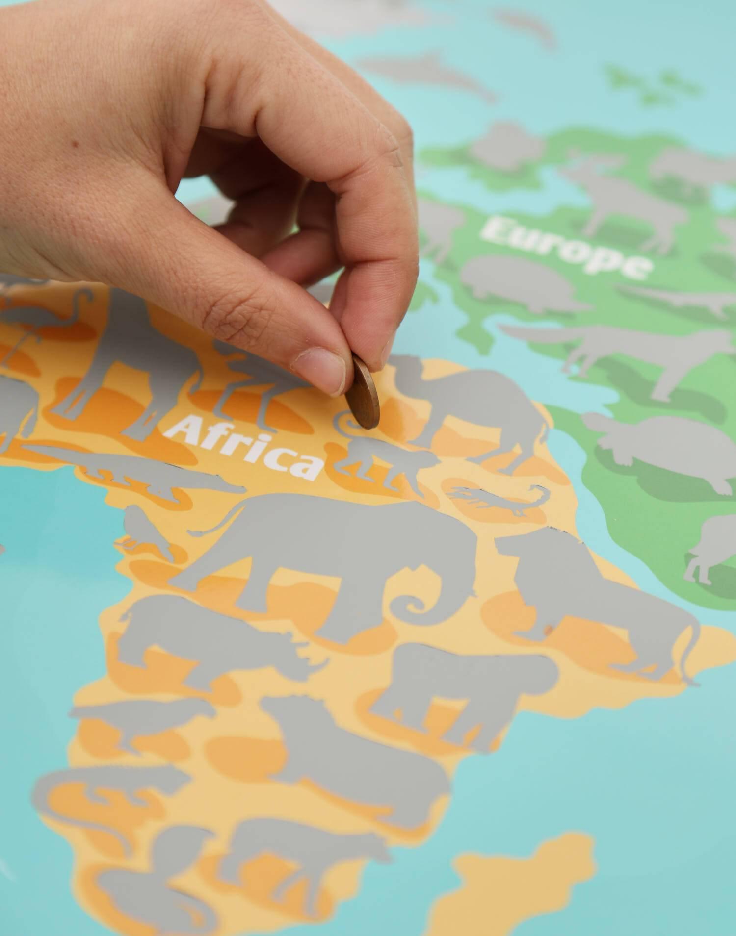 Animals scratch map