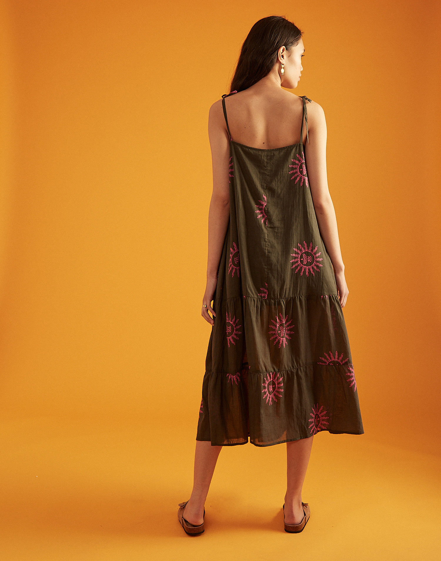 Tie-shoulder sun maxi dress