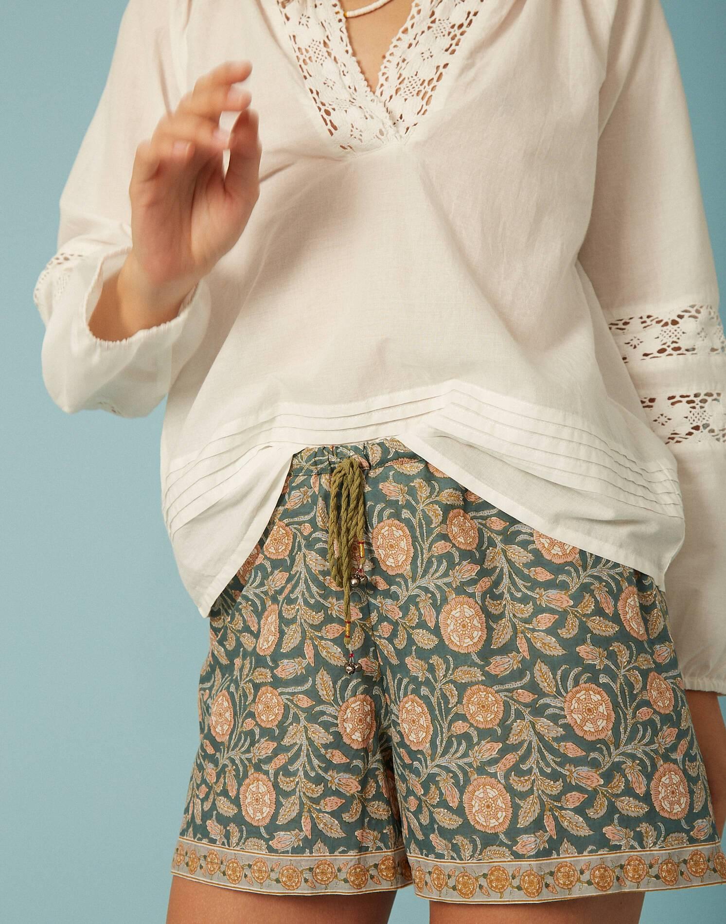 Blusa manga larga encaje