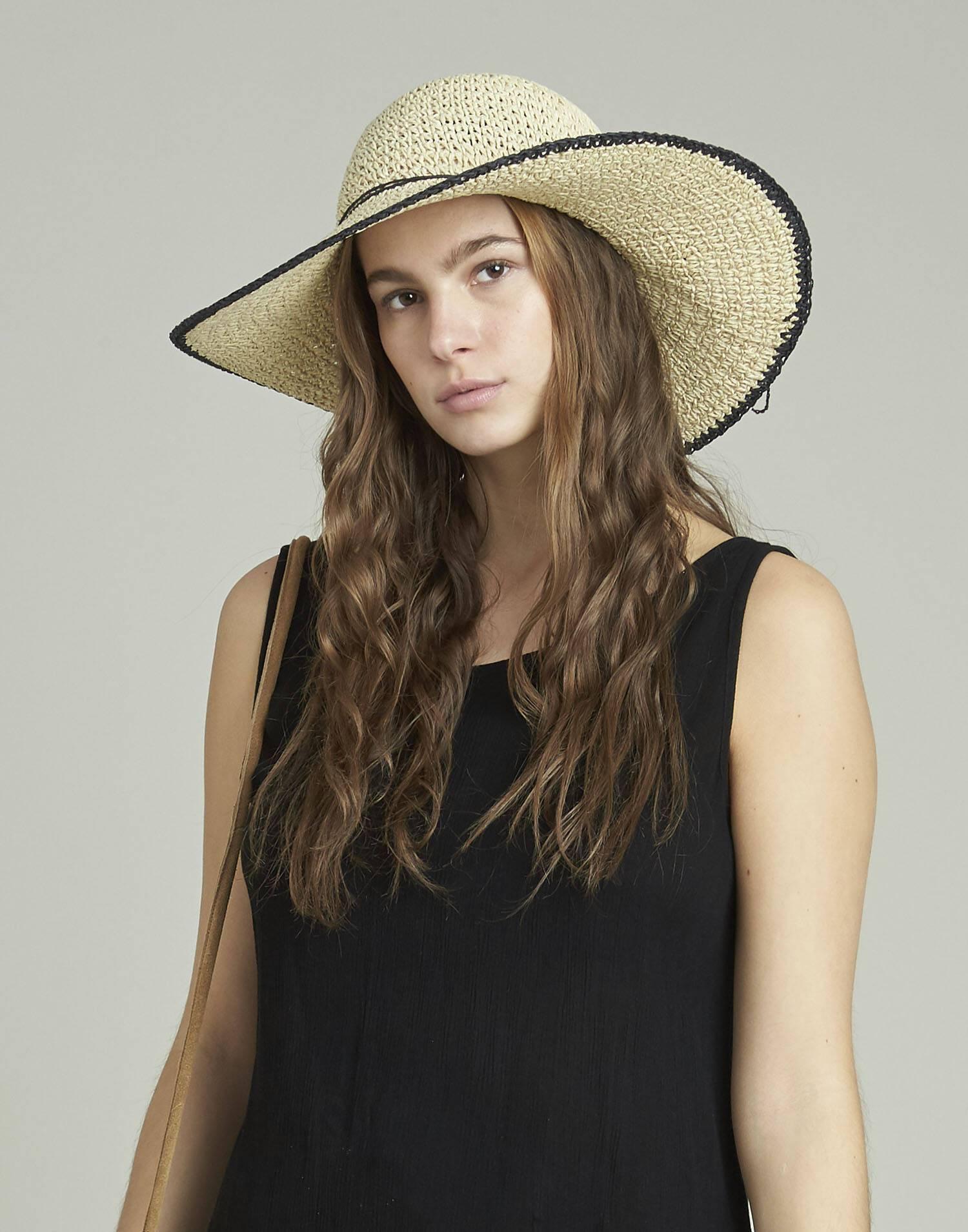 Sombrero con canto a contraste