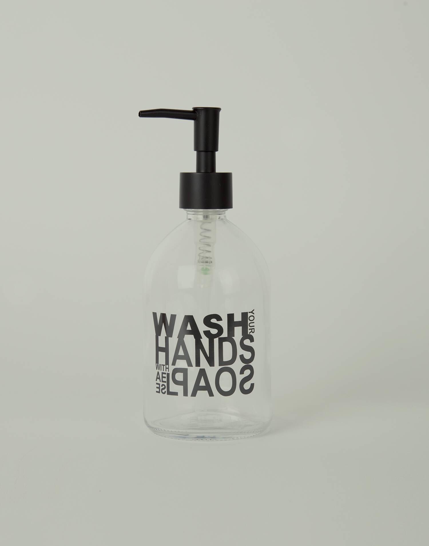 Glass soap dispenser