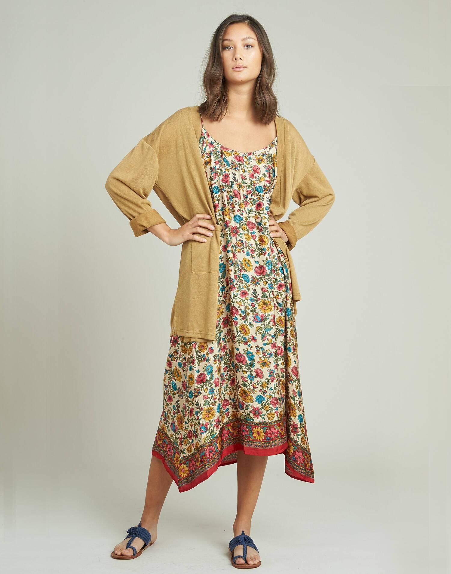 Tank silk midi dress